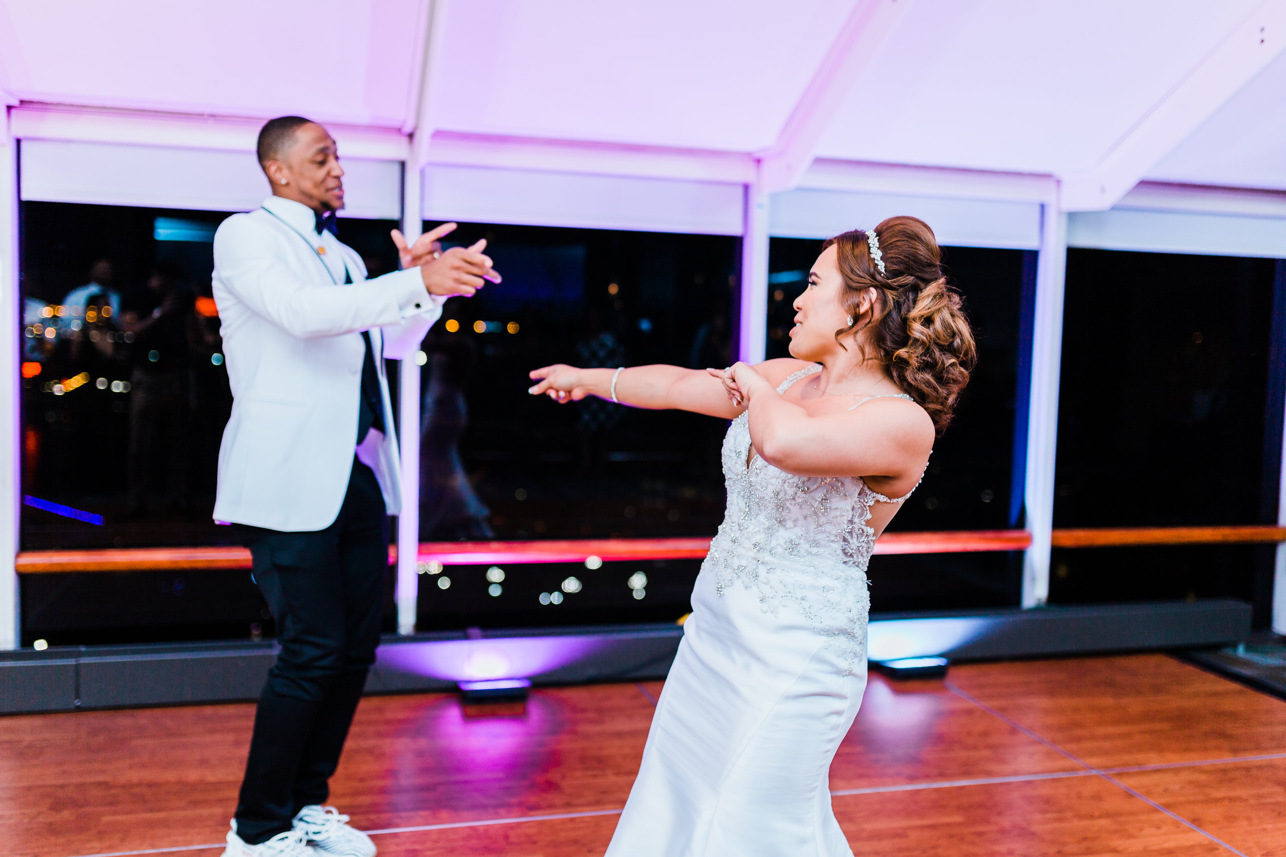 cityscape first dance - maryland wedding photographer and cinematographer