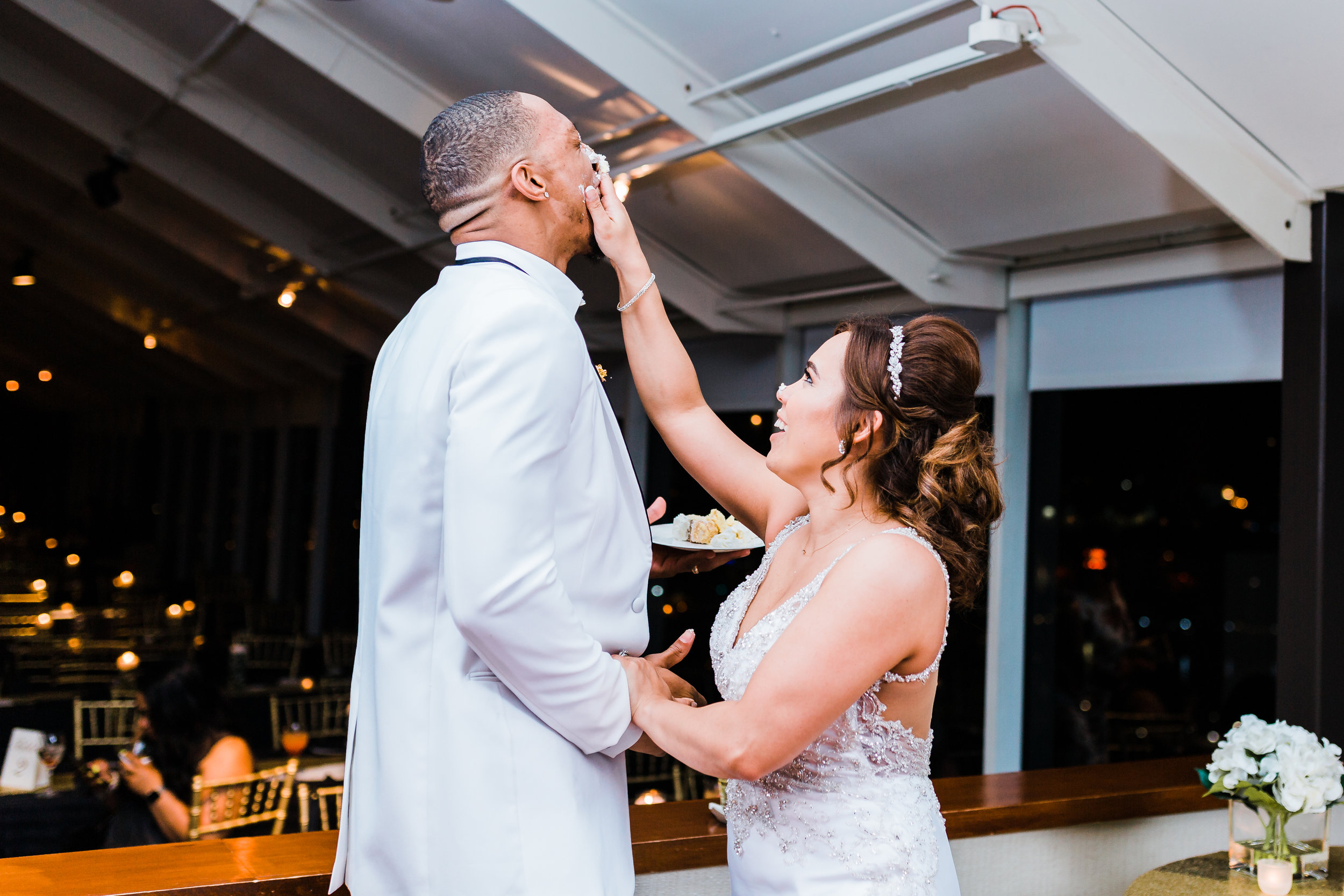 bride succeeds in payback to groom with icing in baltimore maryland
