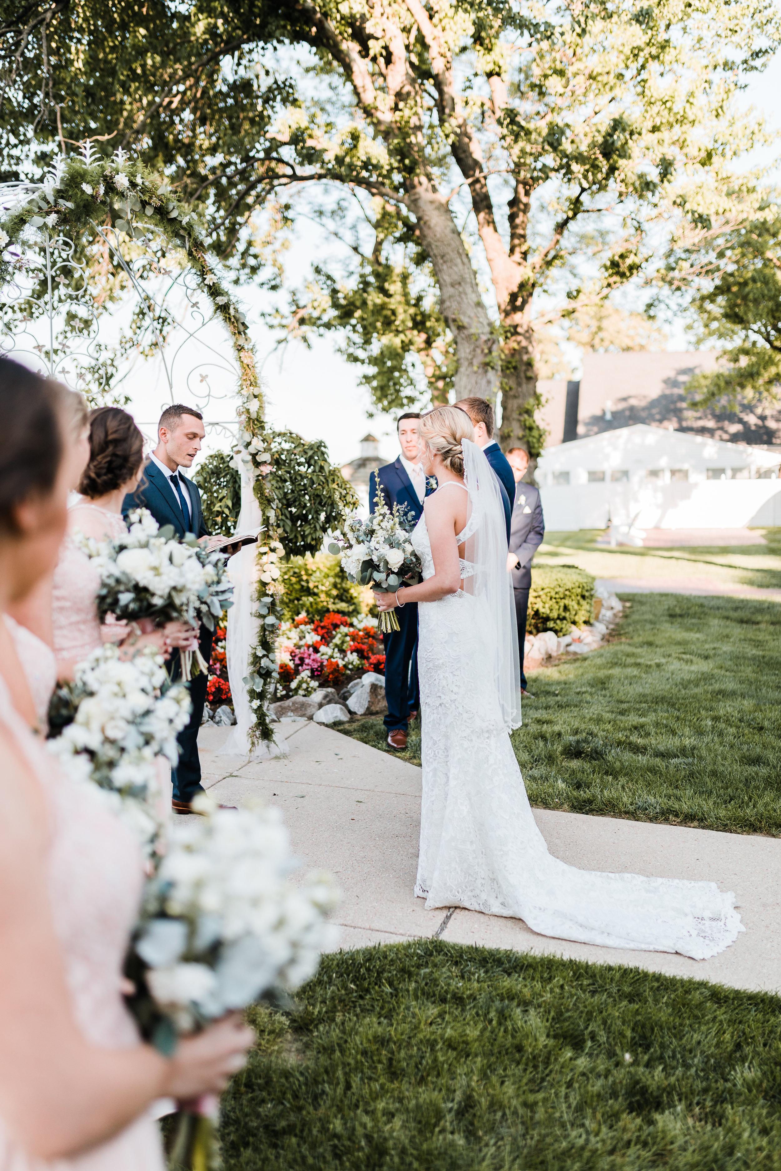 stunning late spring bayside wedding ceremony - pasadena maryland - maryland wedding photographer