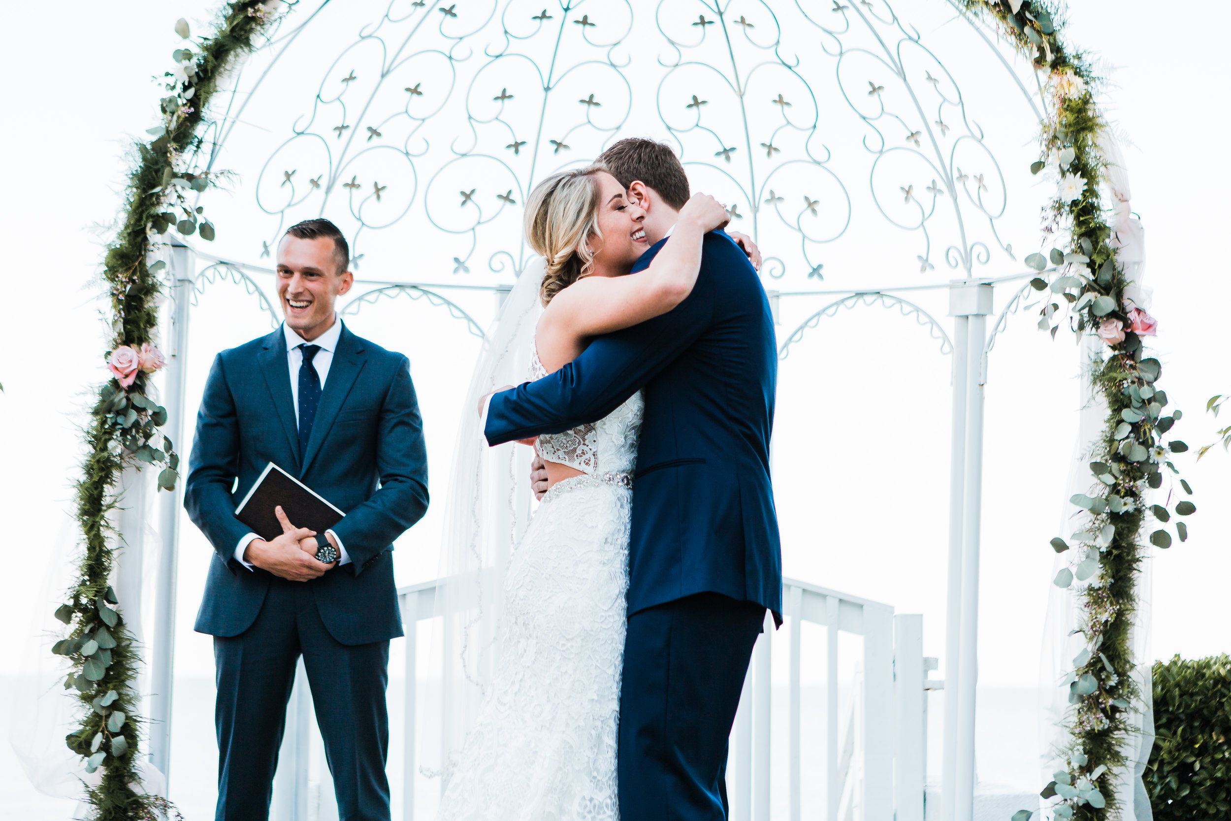 bride and groom hugging in pasadena maryland - photography
