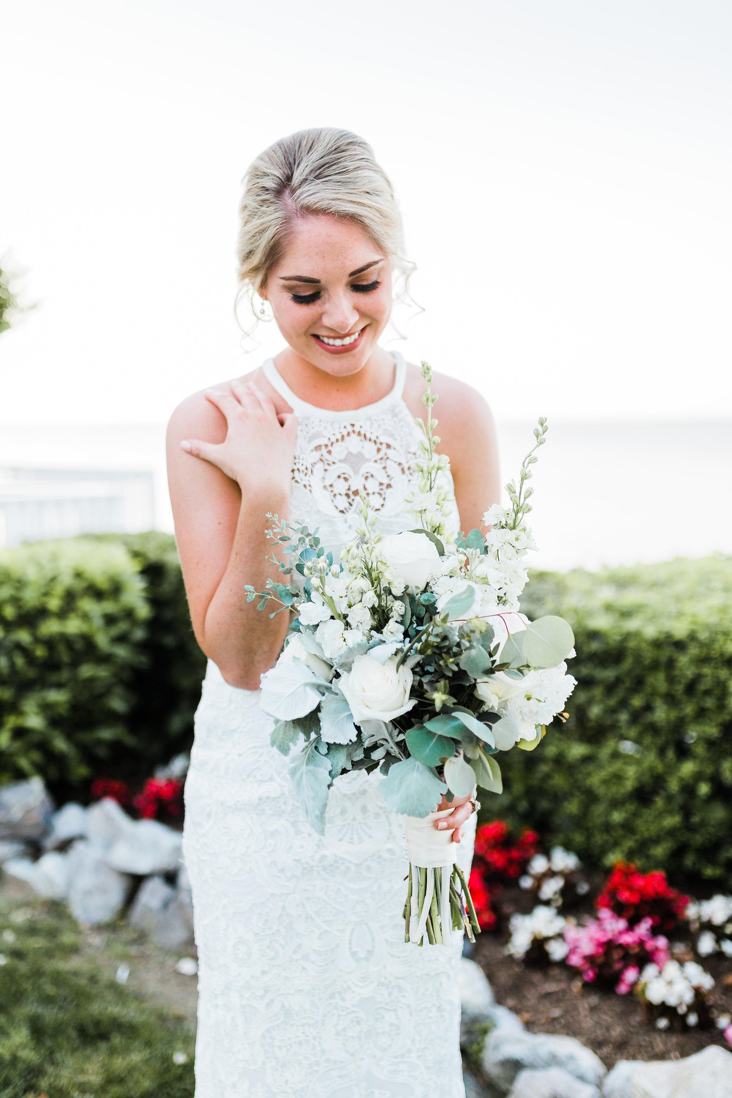 portrait of the beautiful bayside bride - maryland wedding photographer