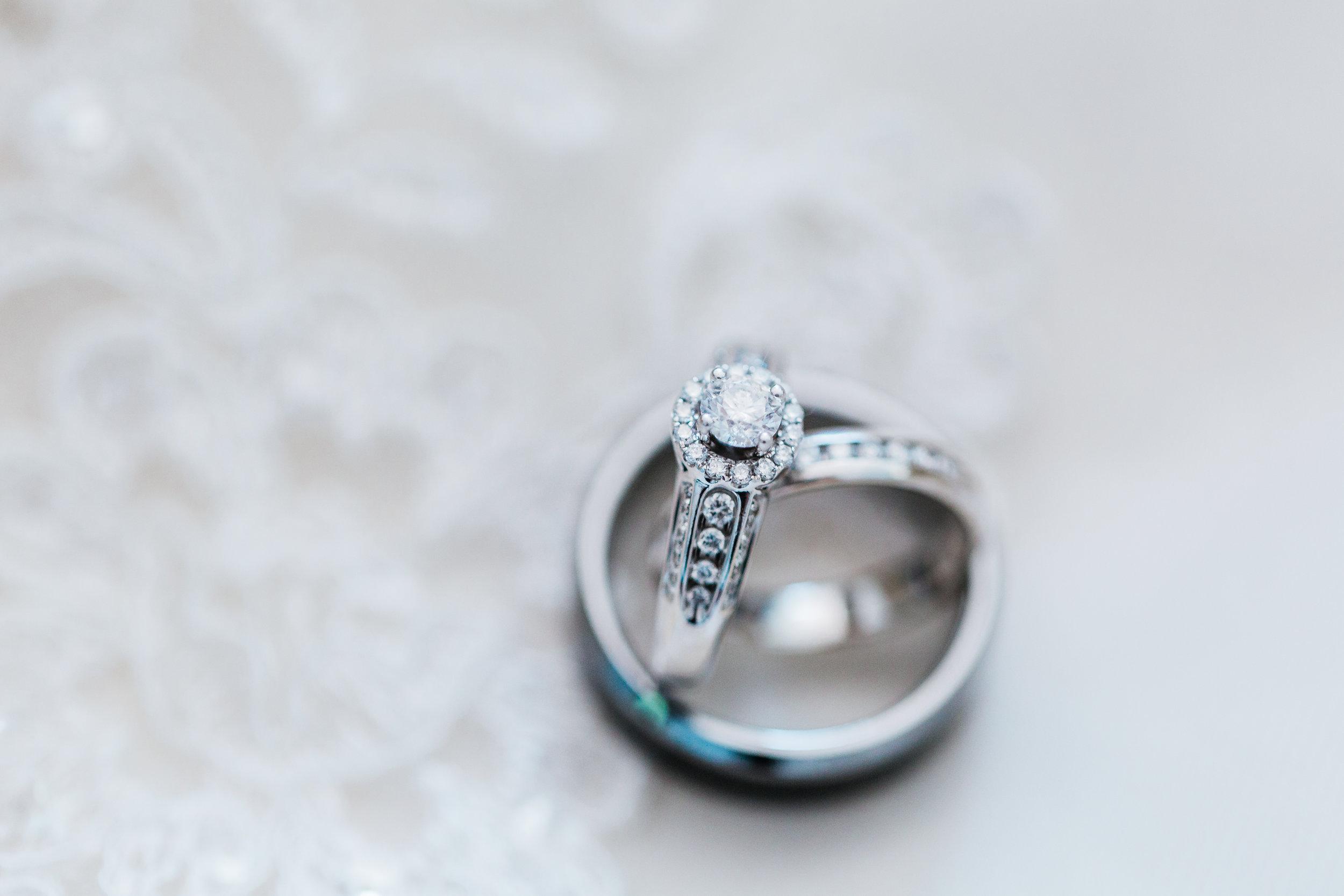 macro shot of wedding rings - pasadena maryland wedding - disney inspired wedding - best md wedding photographer