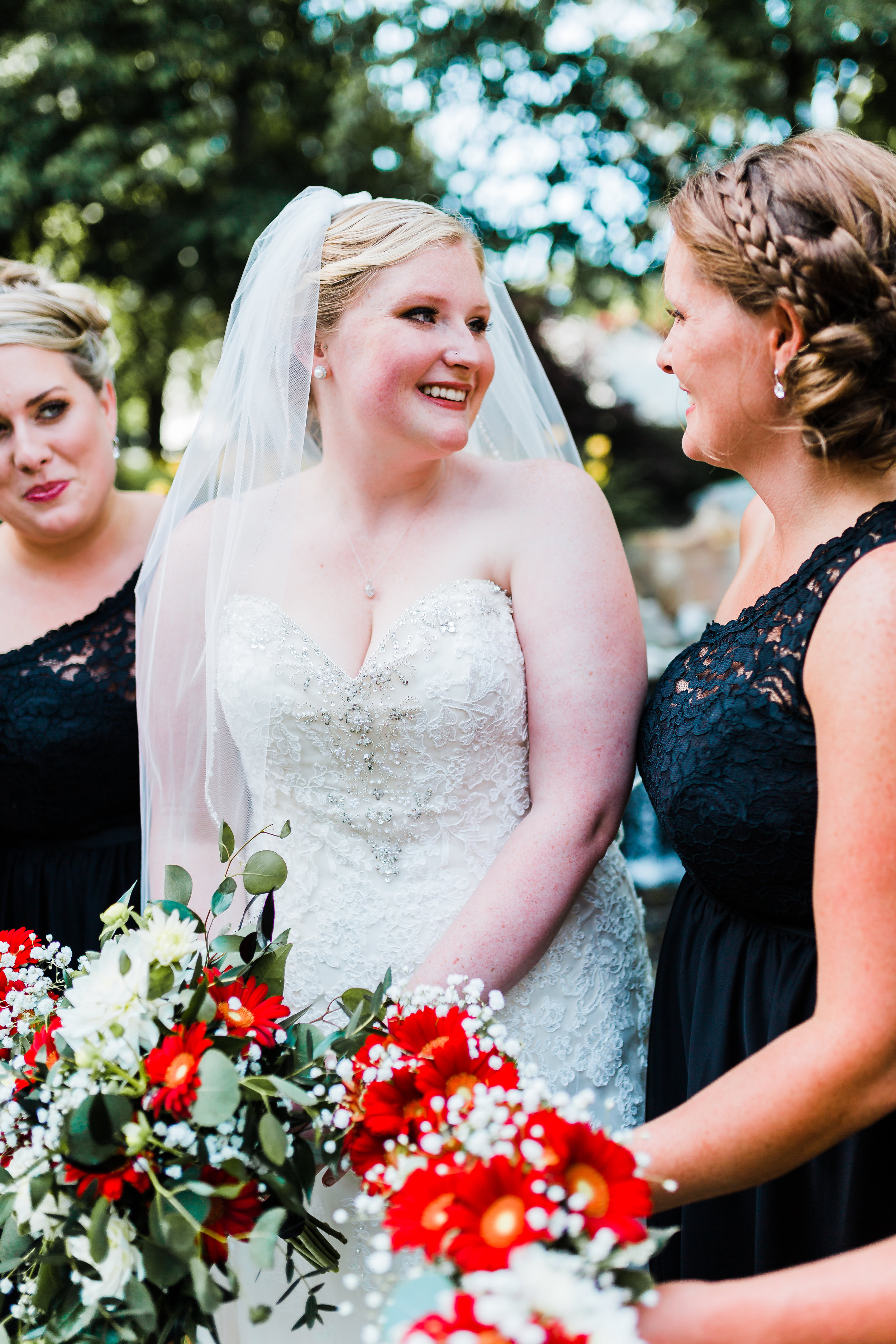 disney bride smiling on her wedding day - disney wedding inspo - maryland wedding photographer - pasadena, md - kurtz's beach weddings