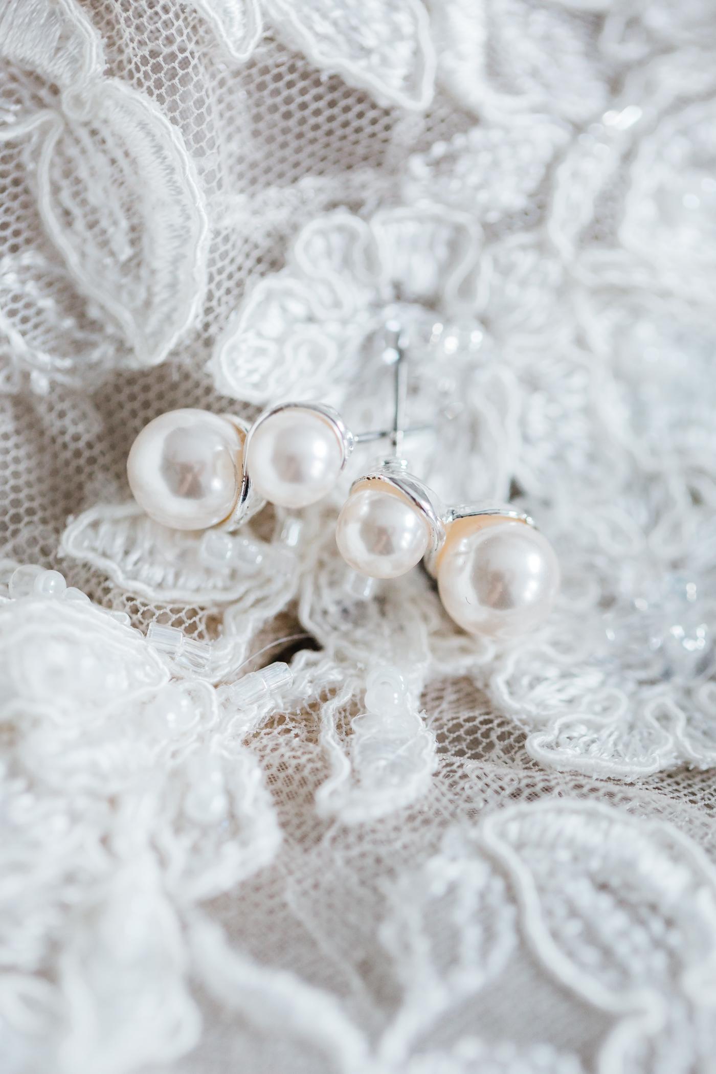 bridal earrings - maryland wedding photographer and videographer