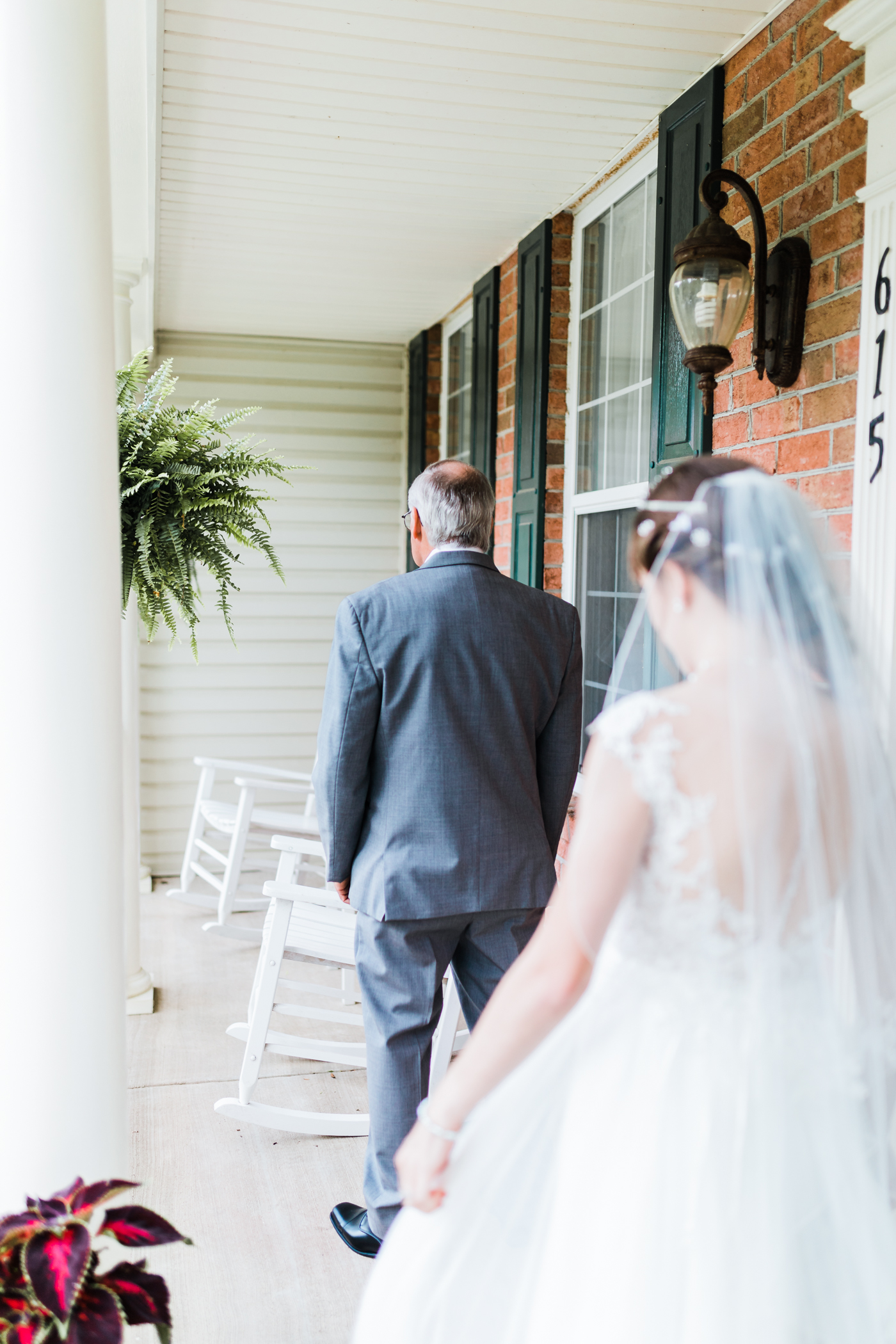 bride and her father - first look - md wedding photographer