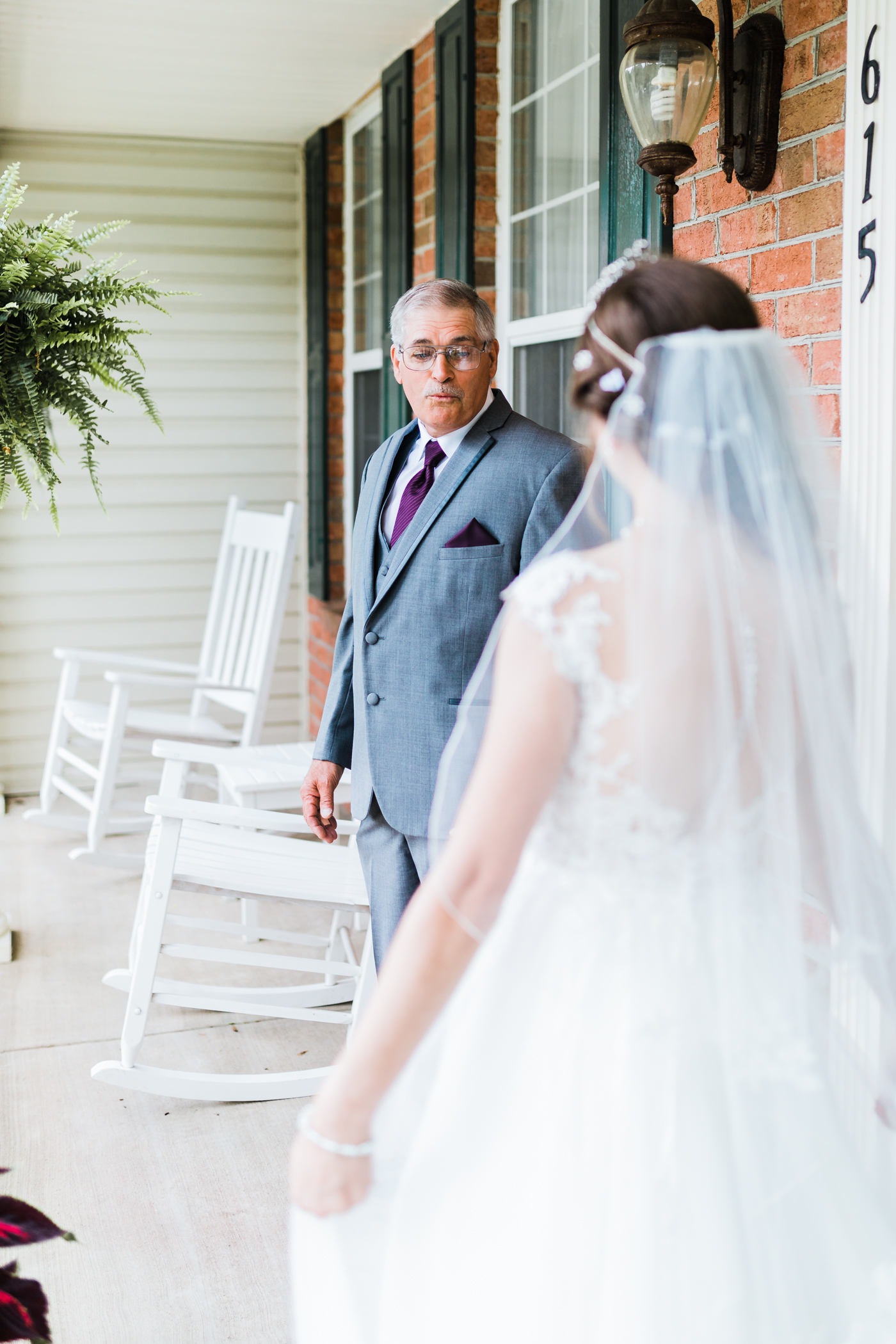 father of the bride's reaction to their first look - best md wedding photographer and cinematographer