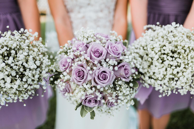 wedding bouquet inspo - purple flowers wedding - rustic simple maryland wedding