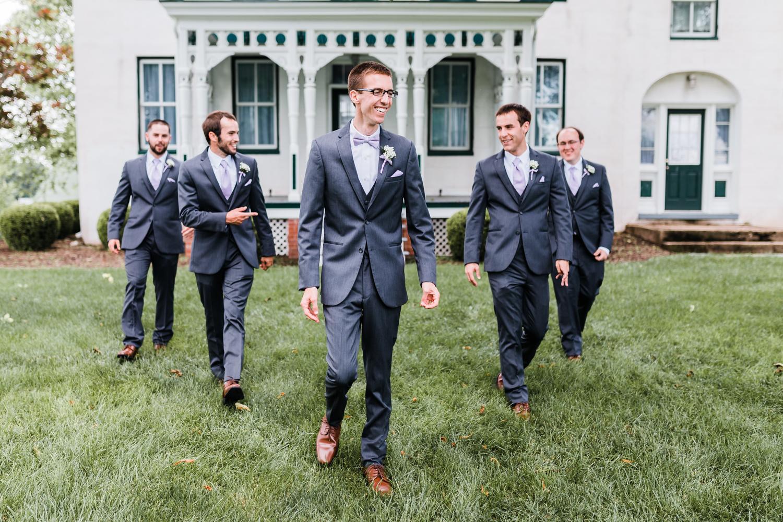groom with his groomsmen - md wedding photographer