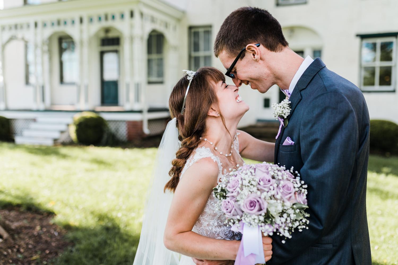 romantic portraits of bride and groom - fun photos - wedding day