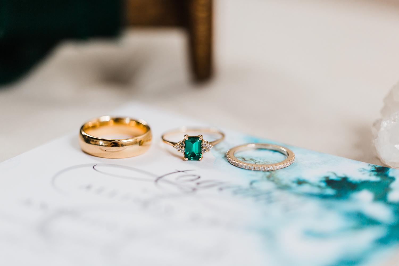 boho invitation suite - geode wedding invitations - maryland wedding photographer and cinematographer