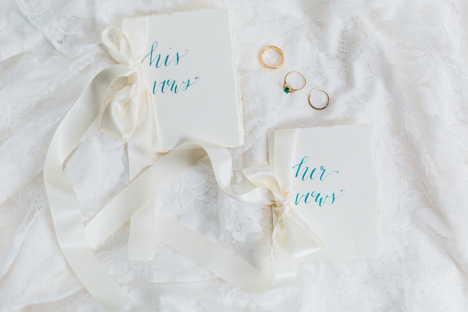 hand written vow books - calligraphy in maryland - watercolor vow books