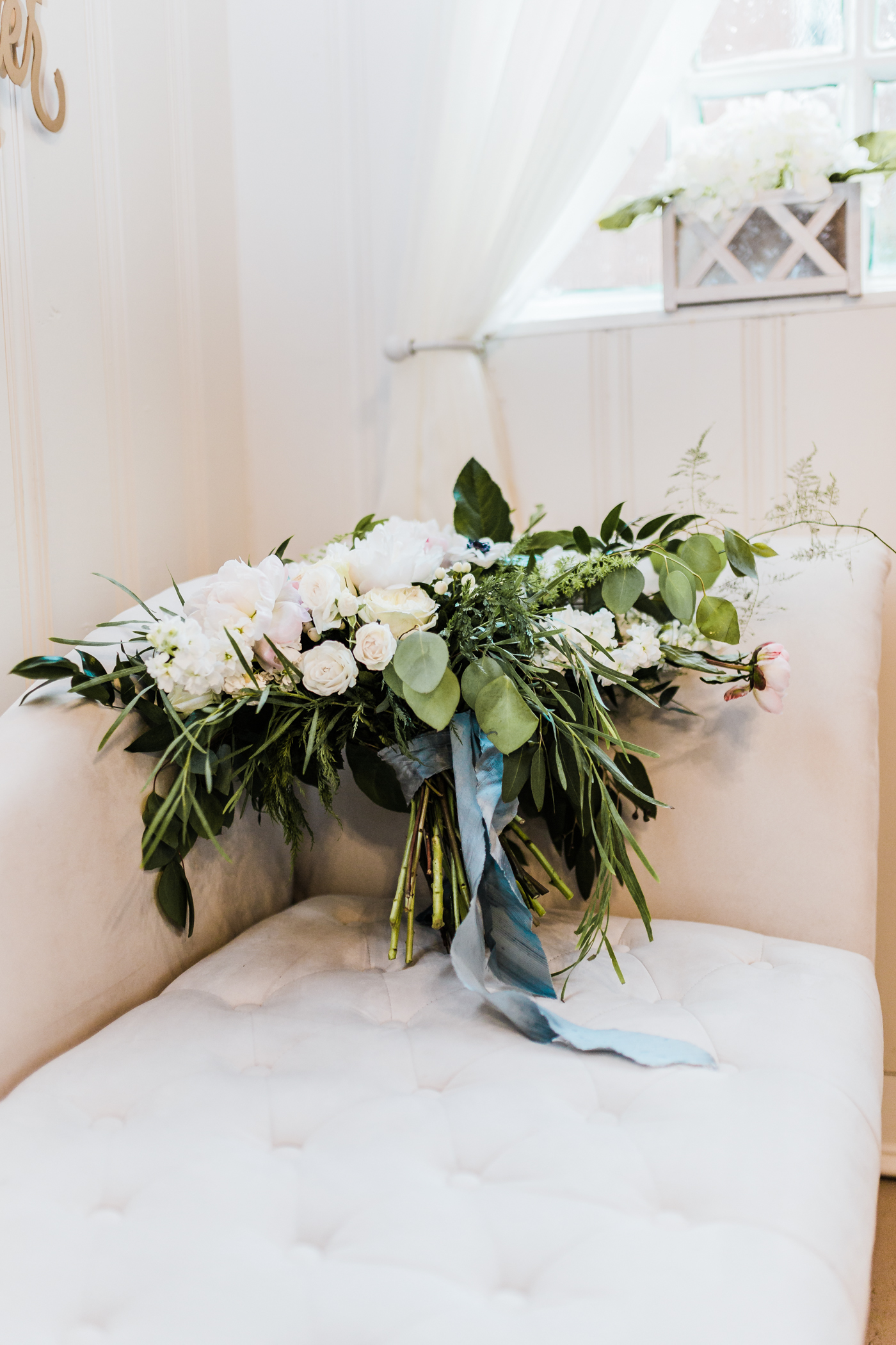 free form bridal bouquet with silk ribbon - chantilly design and events - maryland wedding photographer - styled shoots in maryland