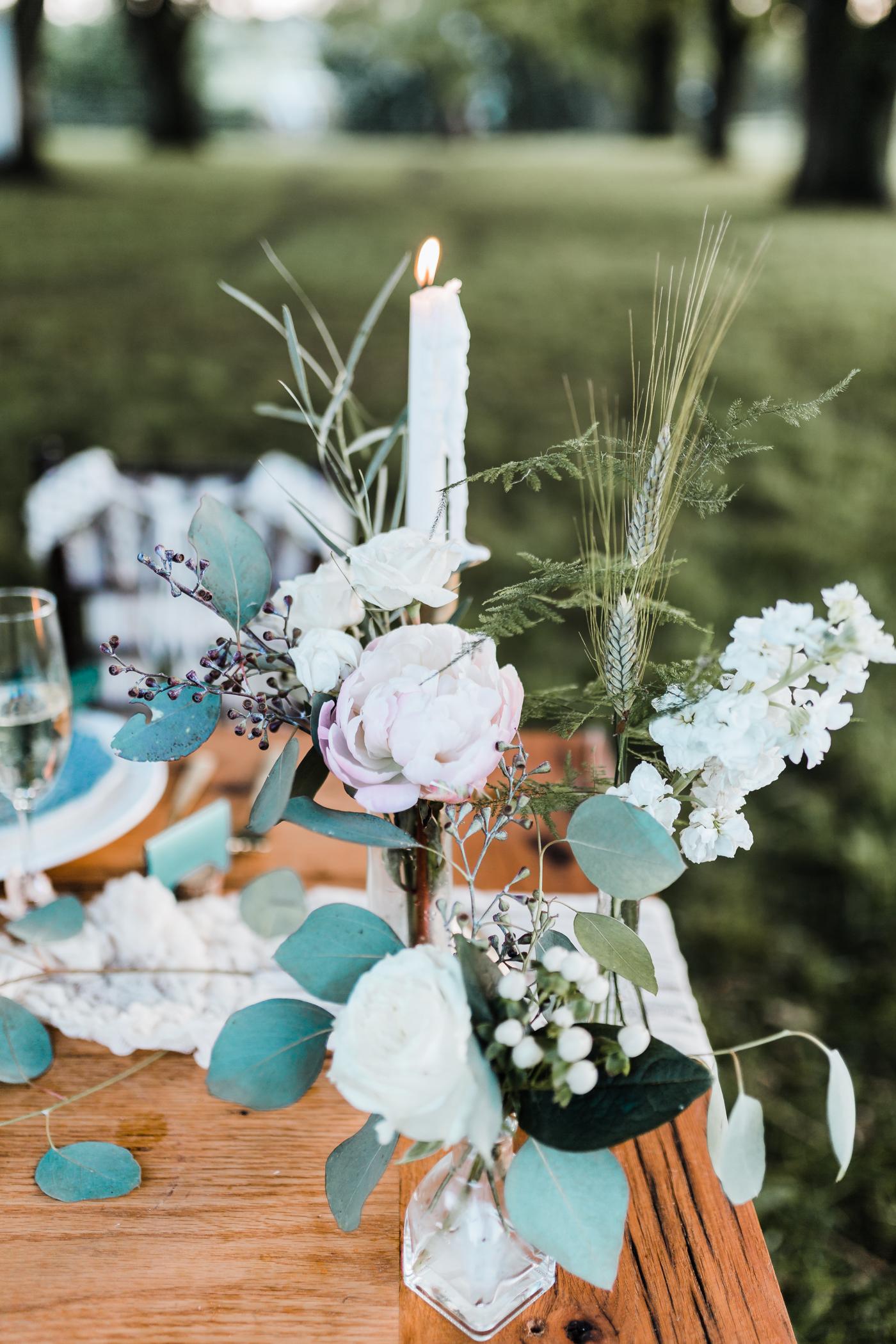 boho wedding centerpieces - bohemian wedding inspiration - maryland wedding photographer and cinematographer
