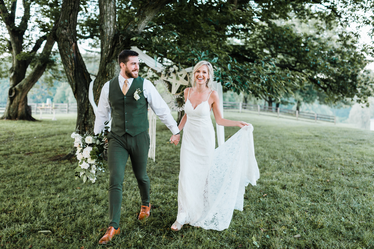 best maryland wedding venue - best maryland photographer and cinematographer - green and gold wedding inspo