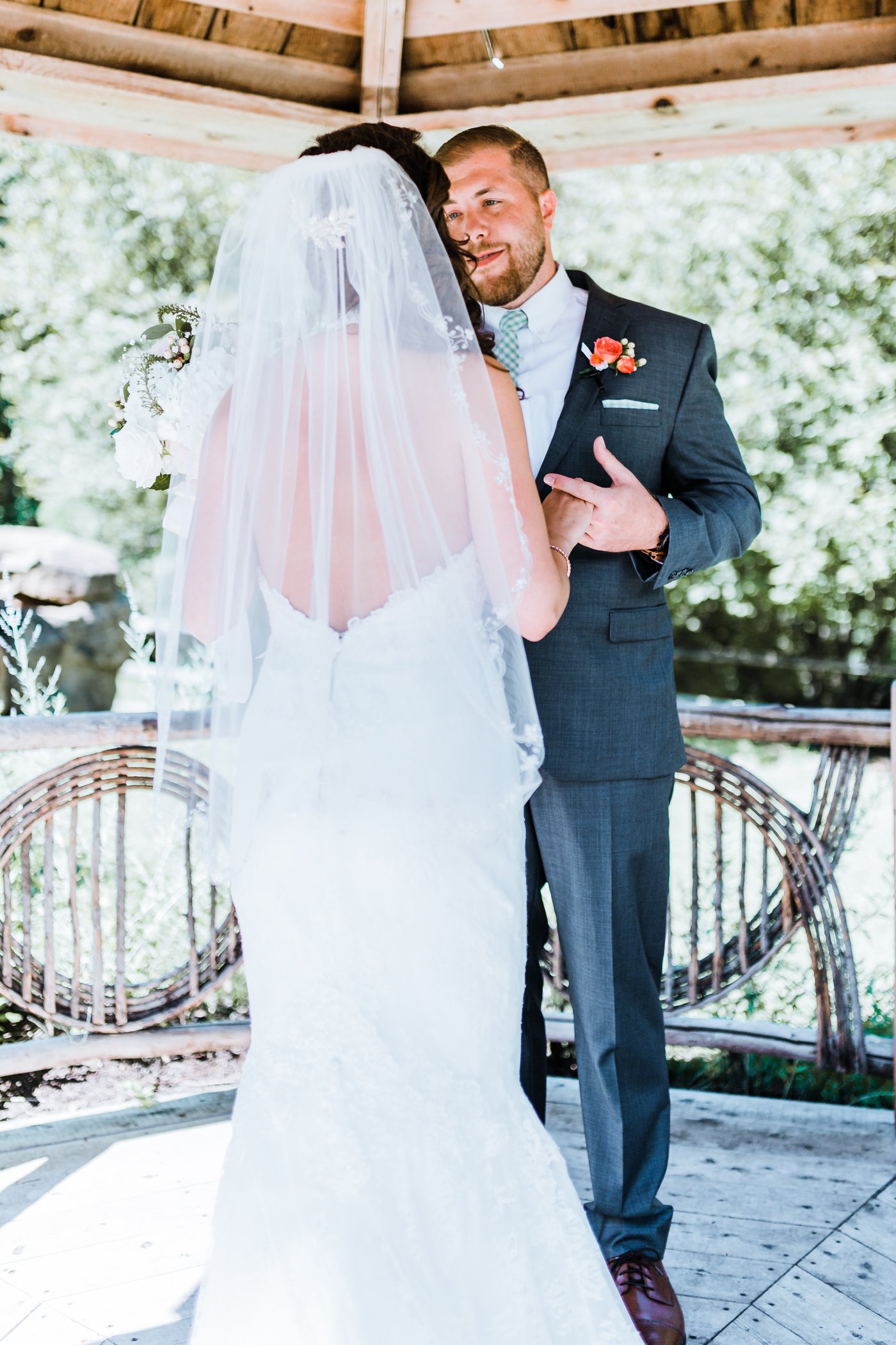 groom looks lovingly at his gorgeous bride - best Maryland wedding photographer - Liberty Mountain Resort weddings