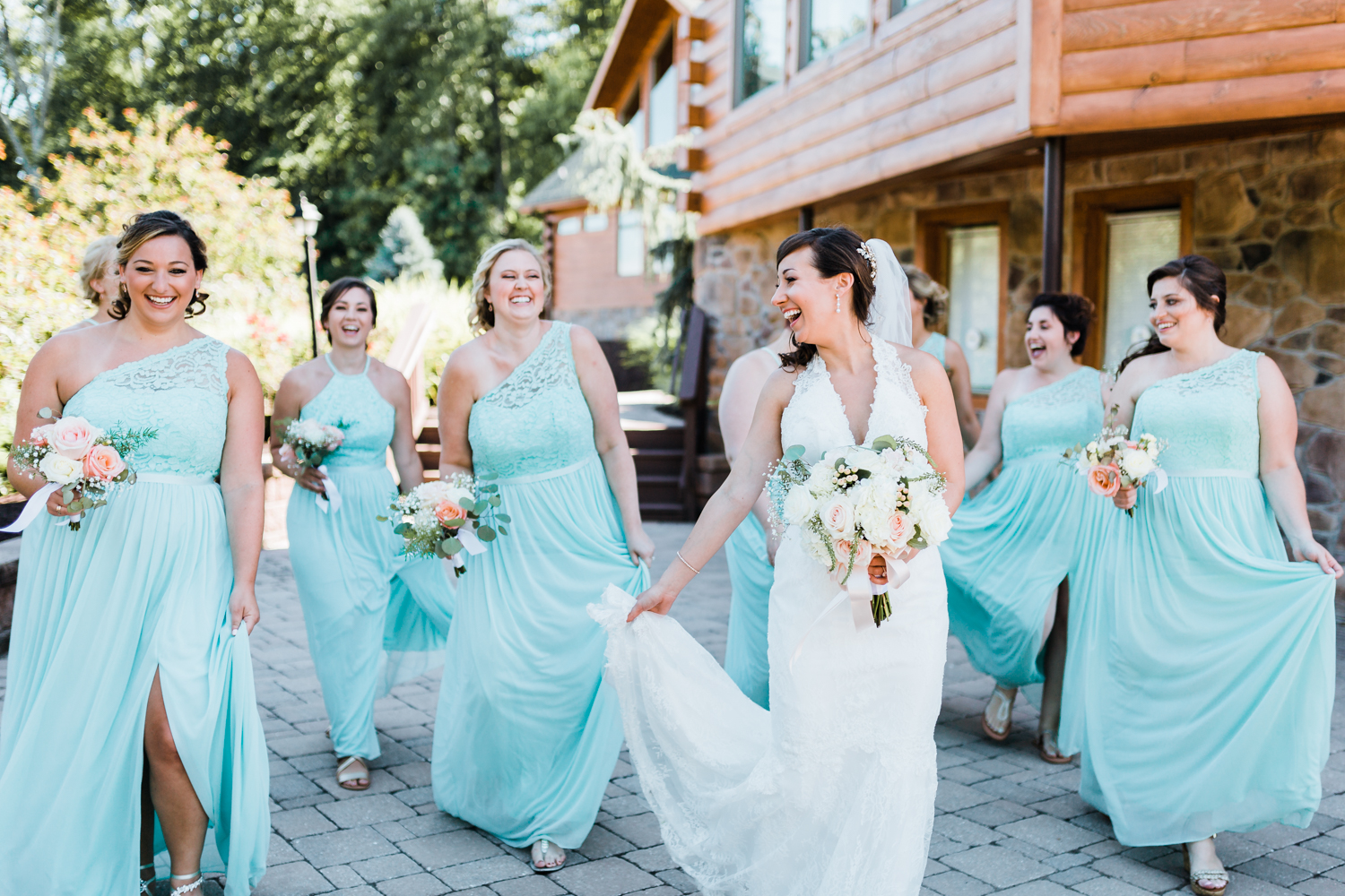 light and bright mint wedding - maryland wedding photographer