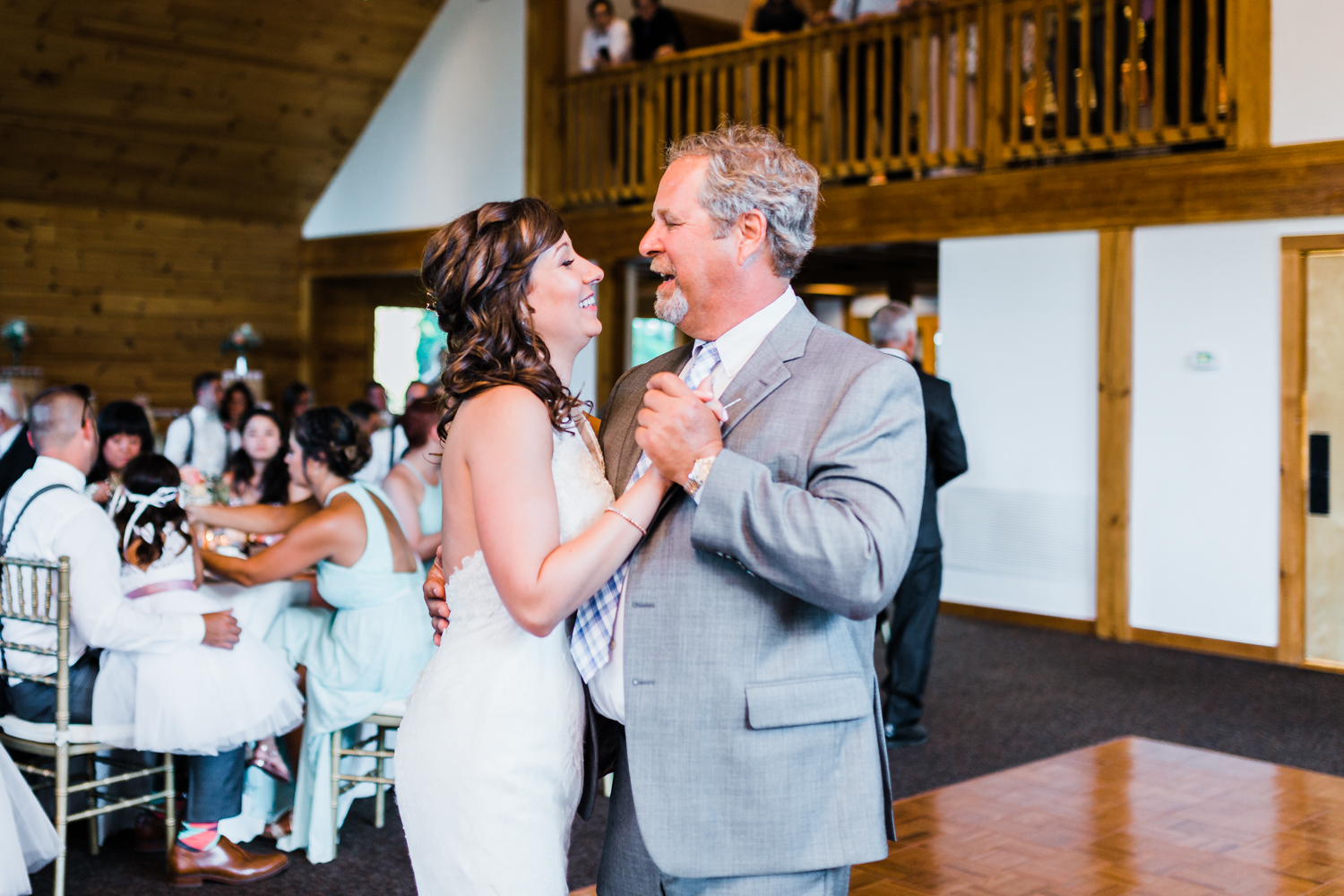 bride dancing with her stepdad - MD wedding photographer