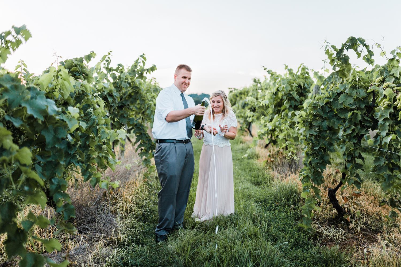maryland engagement photographers - champagne toast