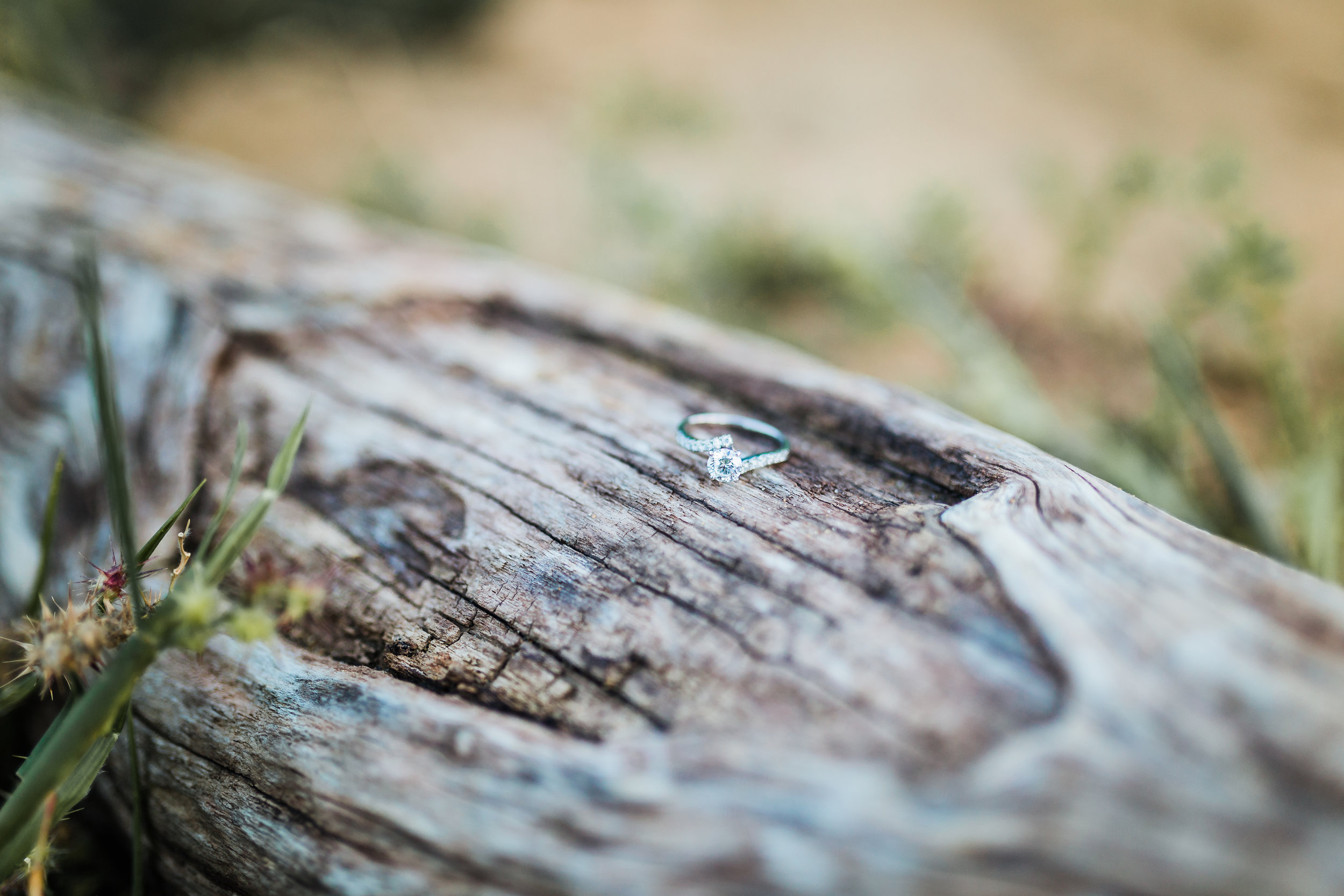 beach engagement session - beautiful engagement ring - beach engagement inspiration