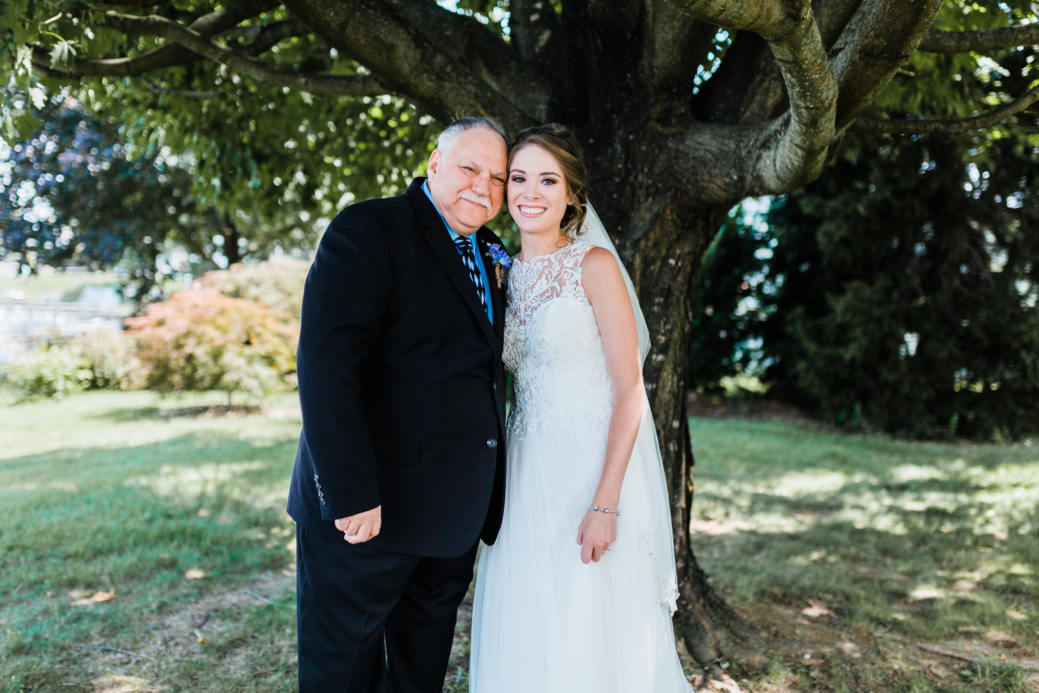 bride and grandfather first look - maryland and dmv wedding photography