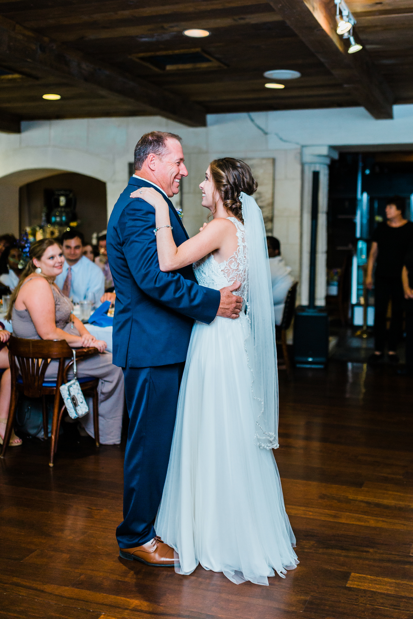 bride dancing with her father - baltimore maryland wedding photographer and videographer