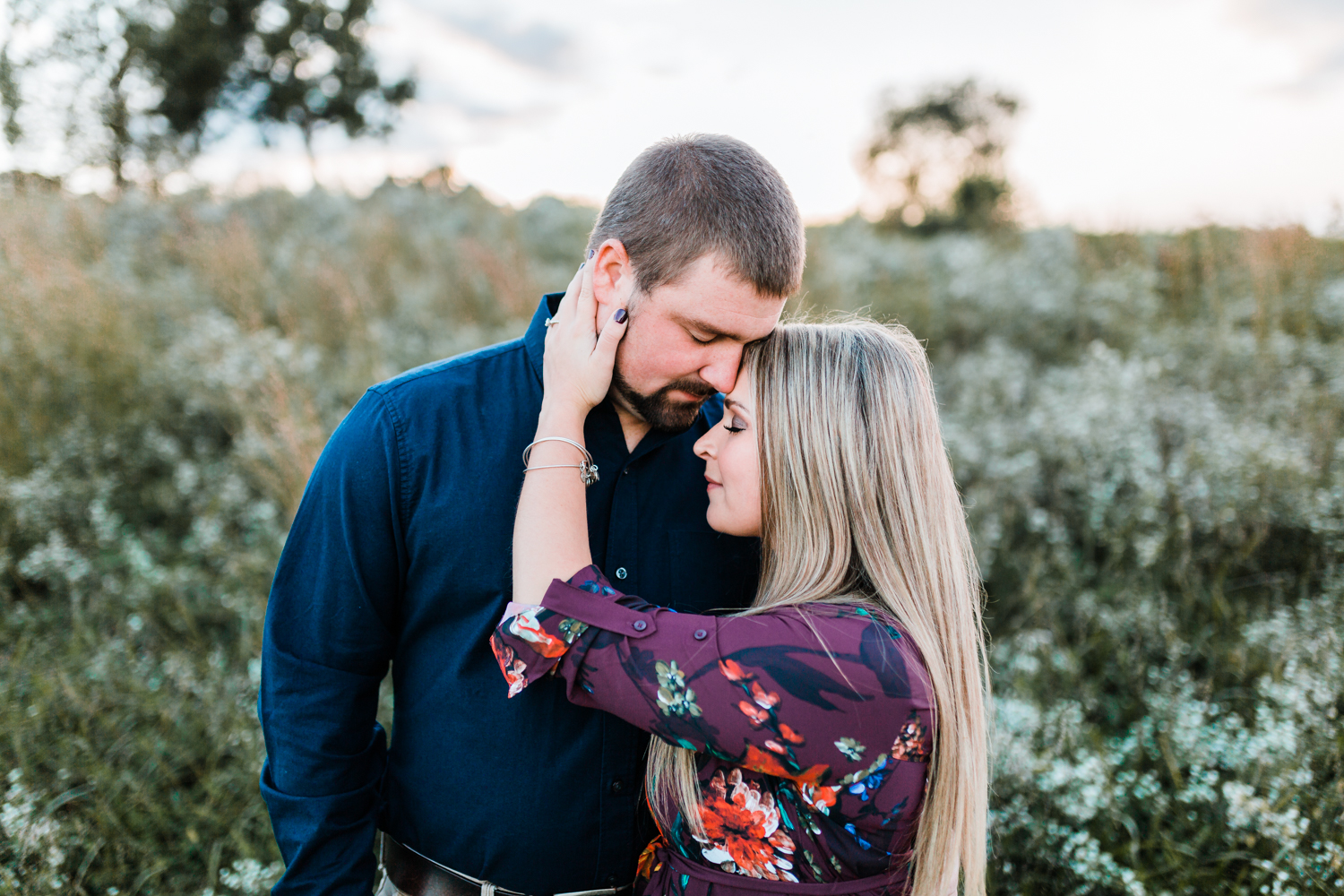 golden hour engagement photos in maryland - top rated md wedding photographer