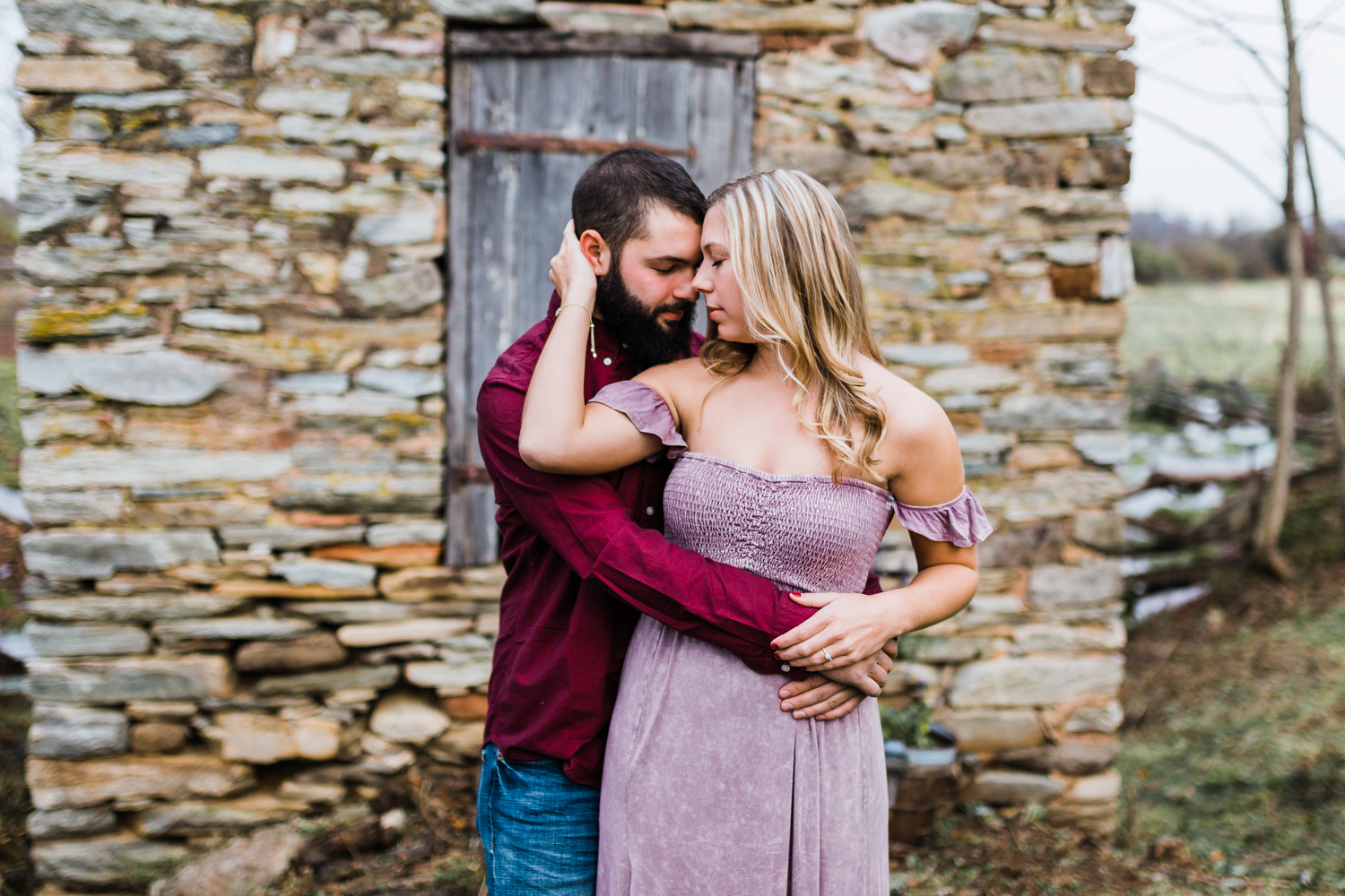 farm engagement session photos - top rated maryland wedding photographer