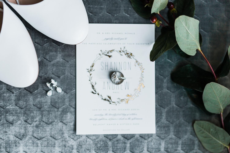 Bridal details - invitation suite - MD wedding Photographer