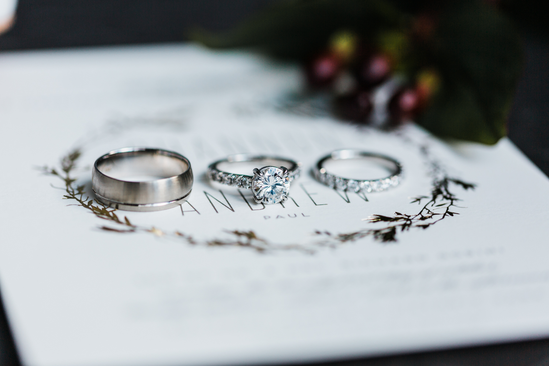 wedding rings - MD wedding Photographer - belmont manor wedding