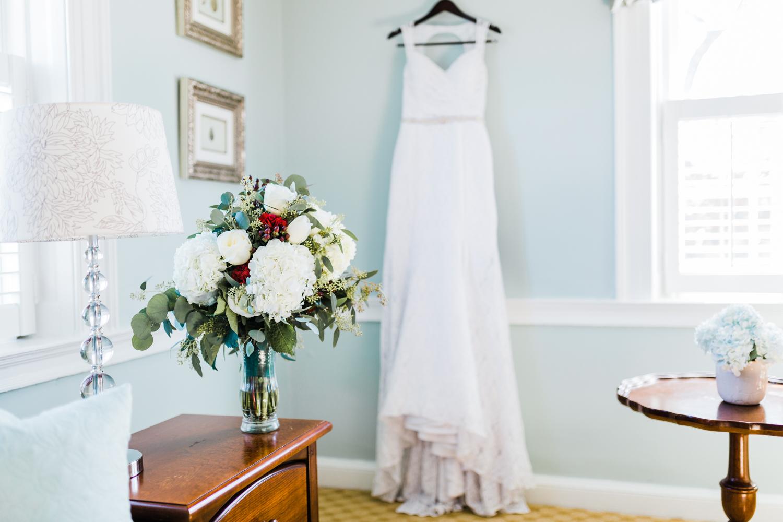 wedding dress details and DIY bouquet inspo - MD wedding Photographer