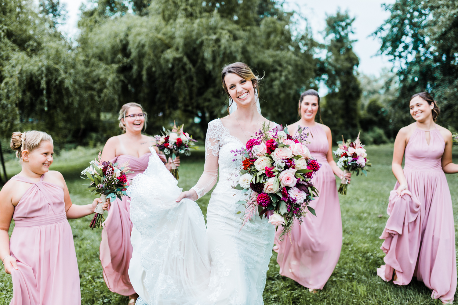 pink wedding inspiration and ideas in Maryland - rainy MD weddings