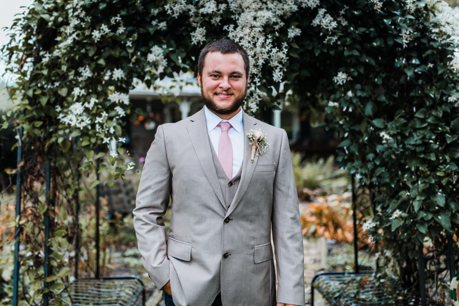 handsome groom on his wedding day