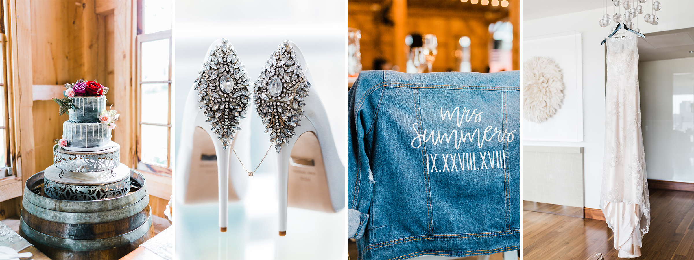 Maryland Wedding Photographer - wedding details - bride shoes - wedding cake inspo - bridal jean jacket
