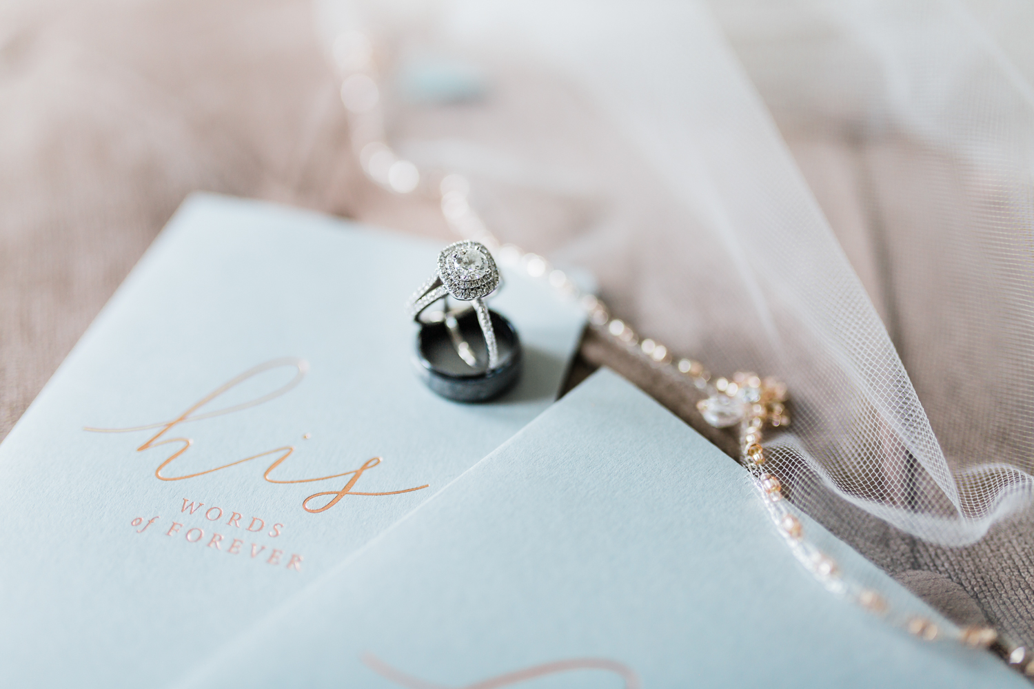 wedding ring details - vow books - etsy vow books - Maryland wedding photographer