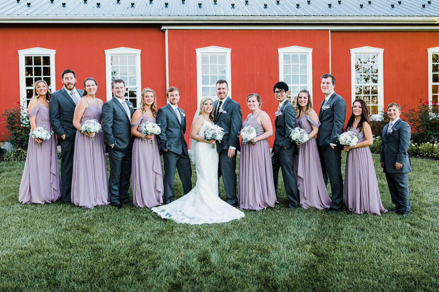 Traditional group pose with bridal party - MD best photo