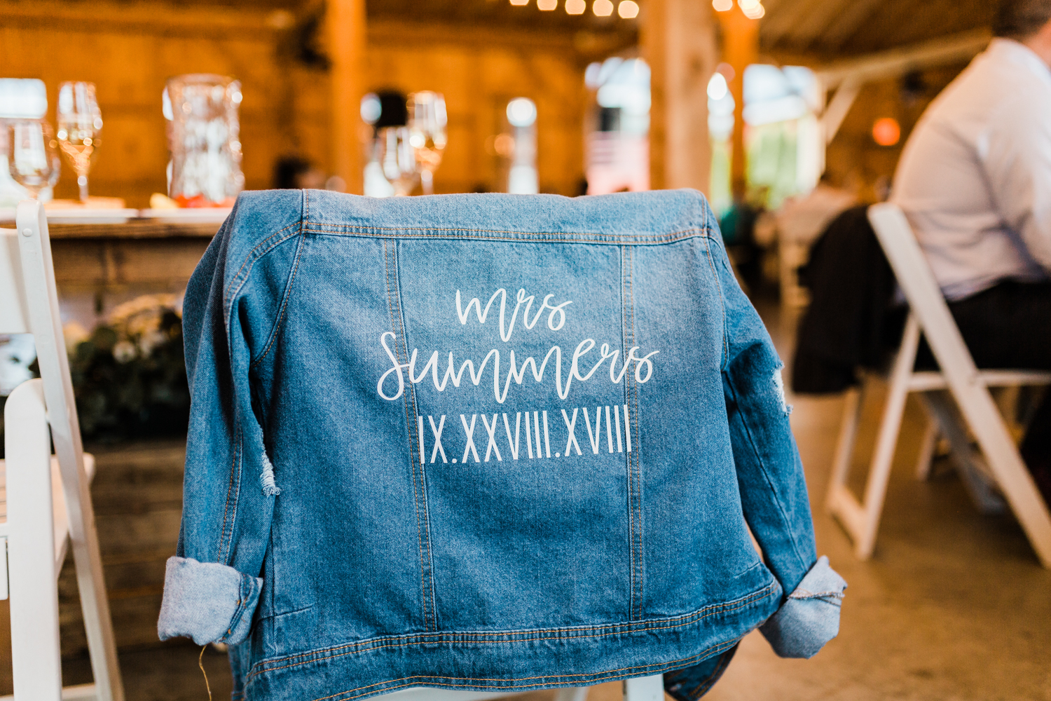 Brides customized jean jacket - Maryland top cinematographer
