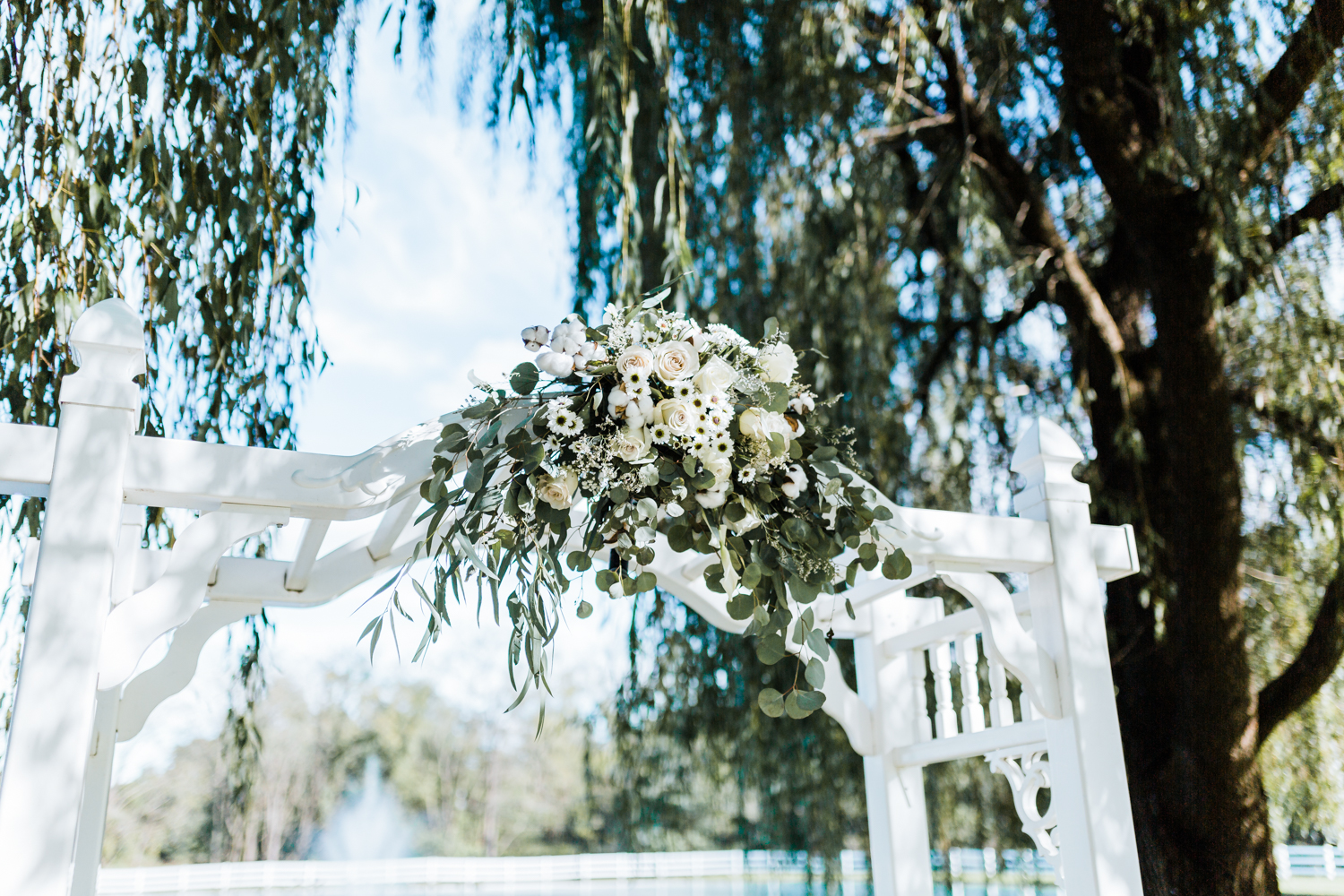 ceremony flowers at Pond View Farm wedding - Maryland wedding photo and video
