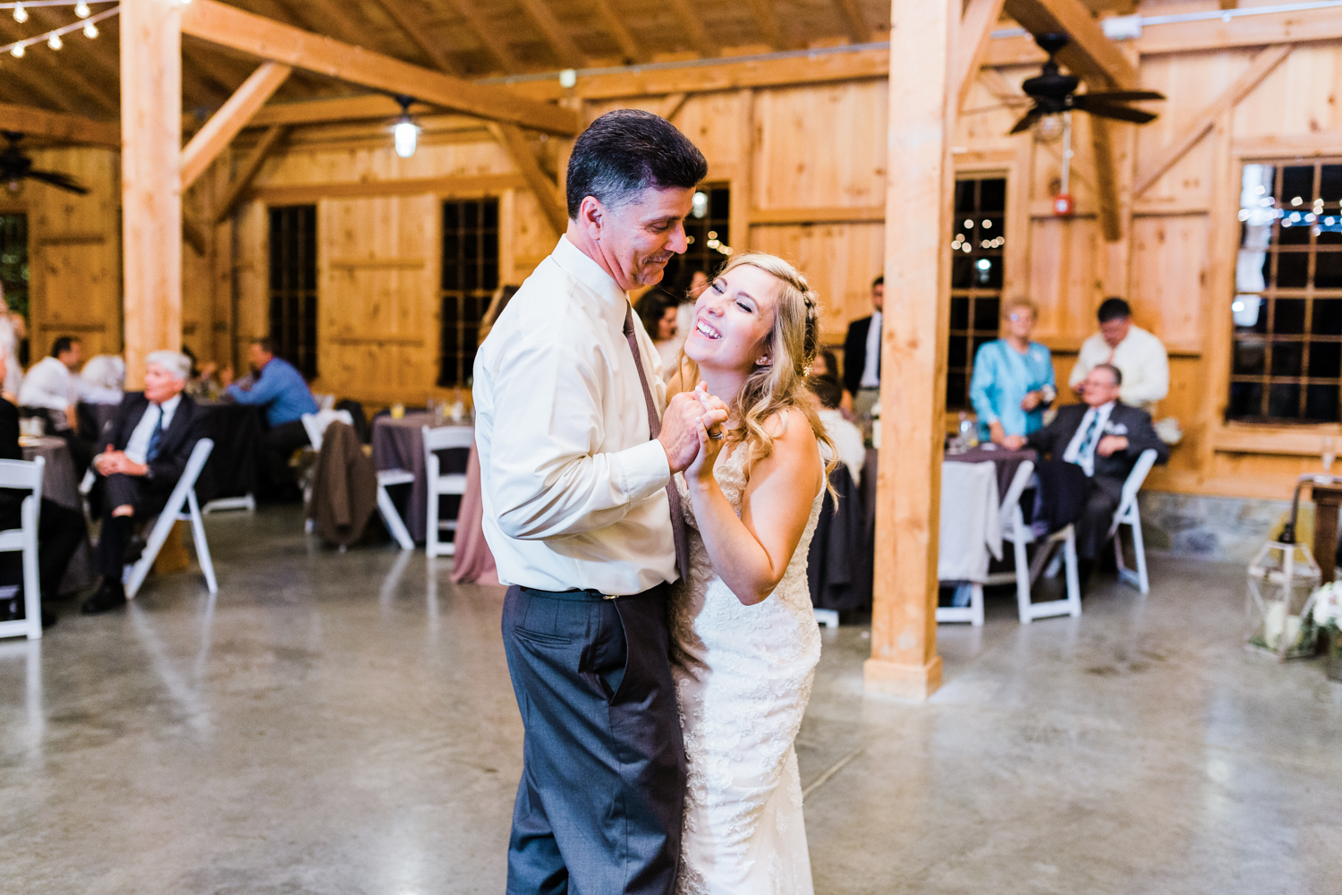 Father and Bride share first dance together - Pond View Farm