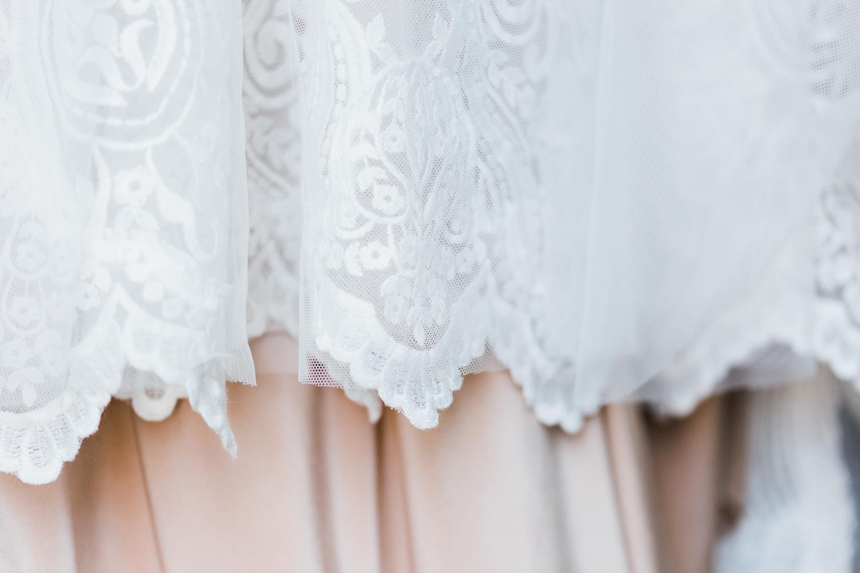 Bridal dress details lace