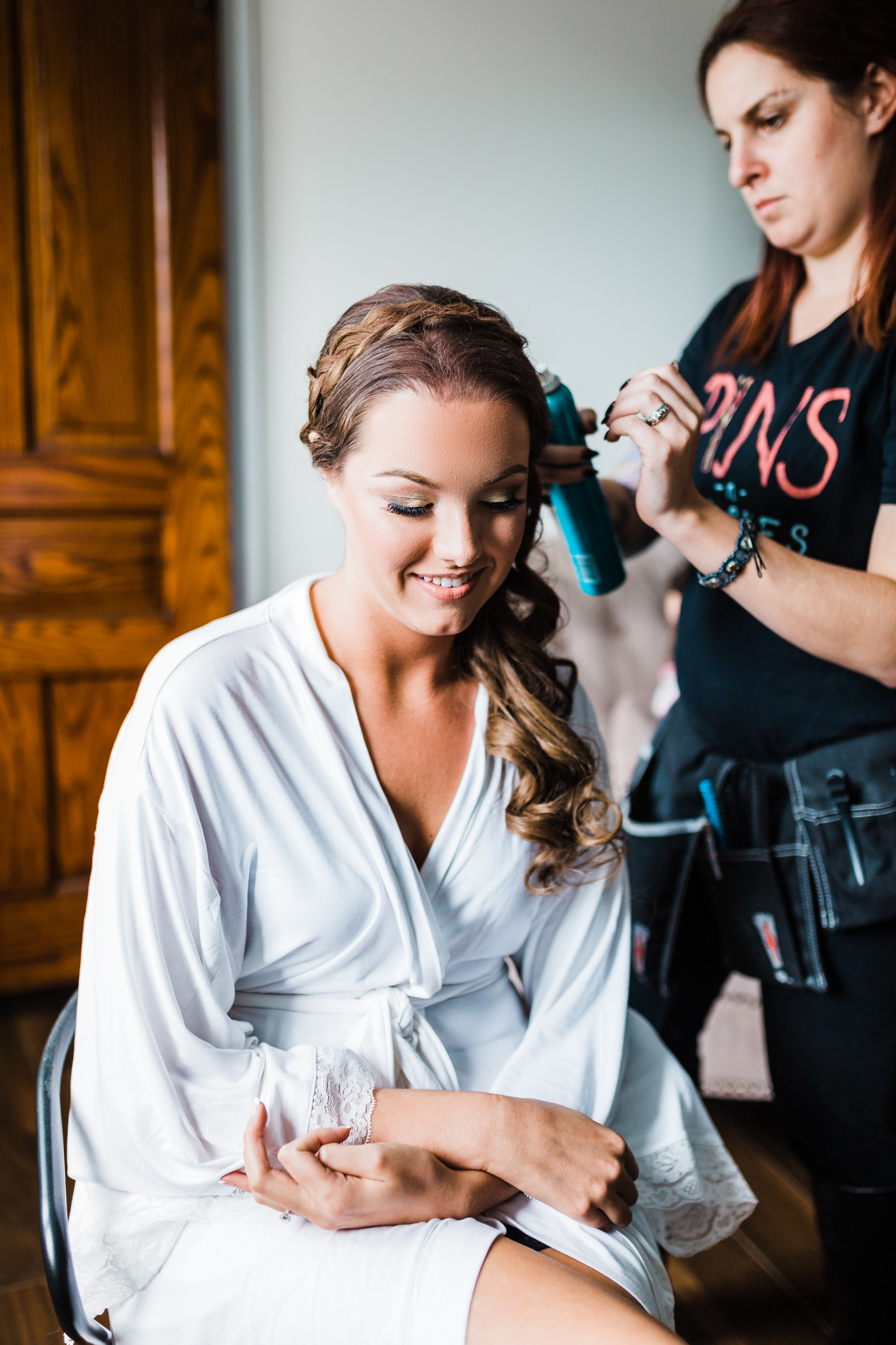 Bride getting ready - Pins N Brushes