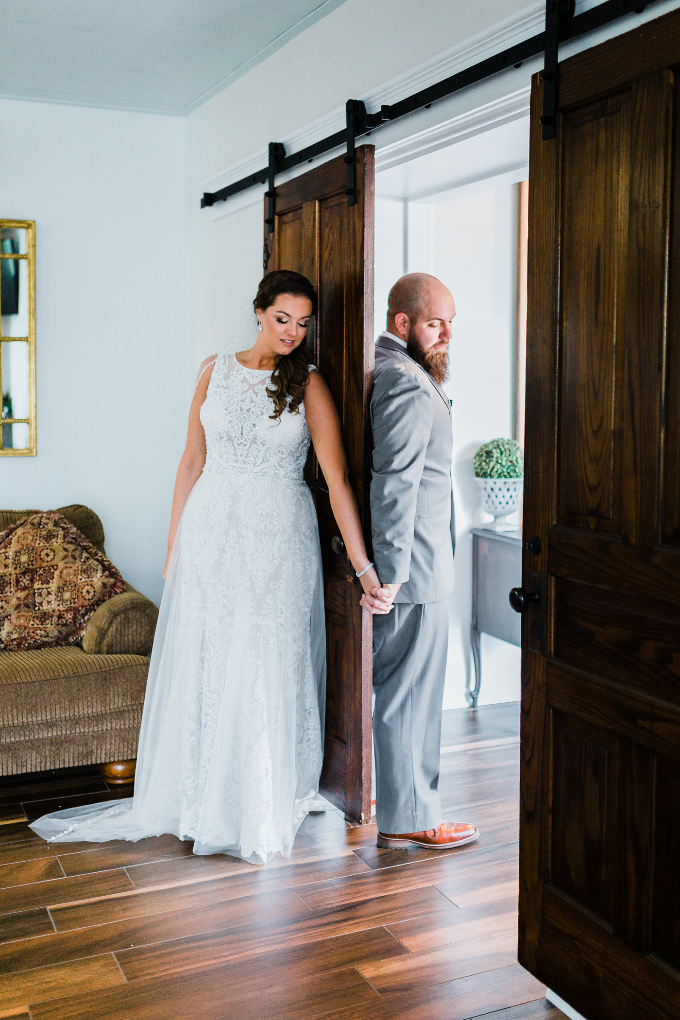 Bride and Groom share a First Touch instead of a First Look - MD wedding videography