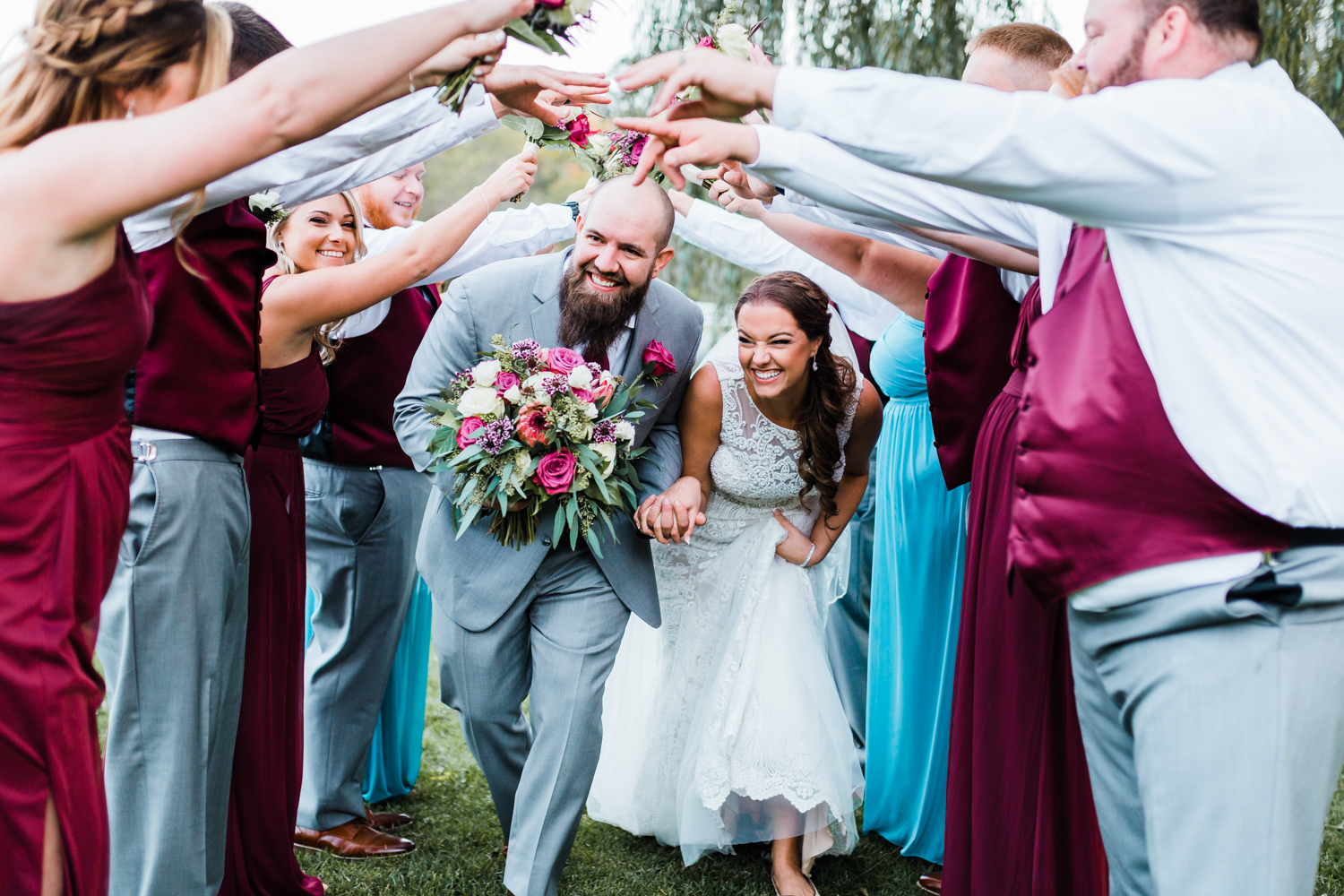 Fun ideas for shots with bridal party - awesome wedding photographers in Maryland