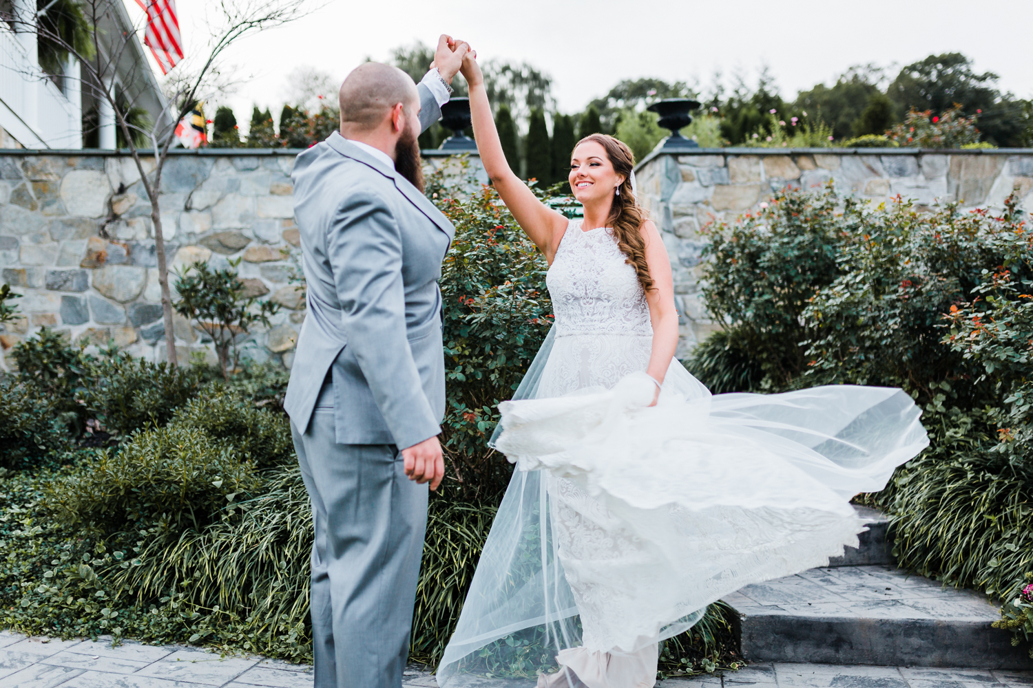 bride and groom dancing outside - DMV wedding photography and videography / cinematography