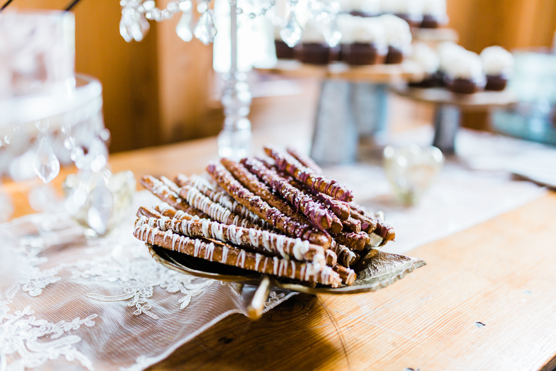 beautiful pretzel sticks - wedding dessert bar ideas - Maryland wedding photo and video