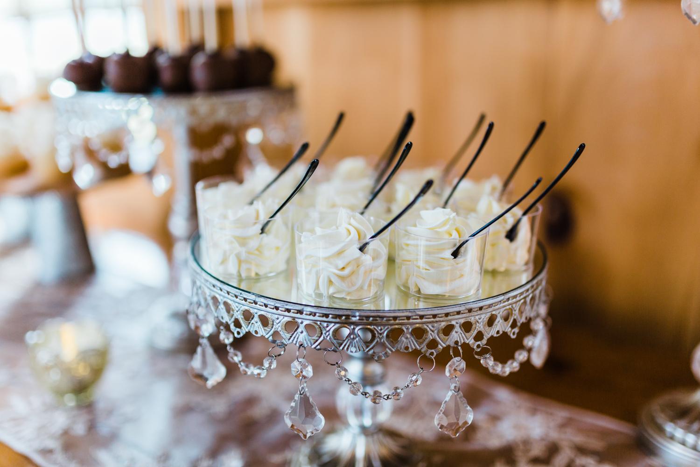 crystal dessert trays - vintage and elegant dessert bar
