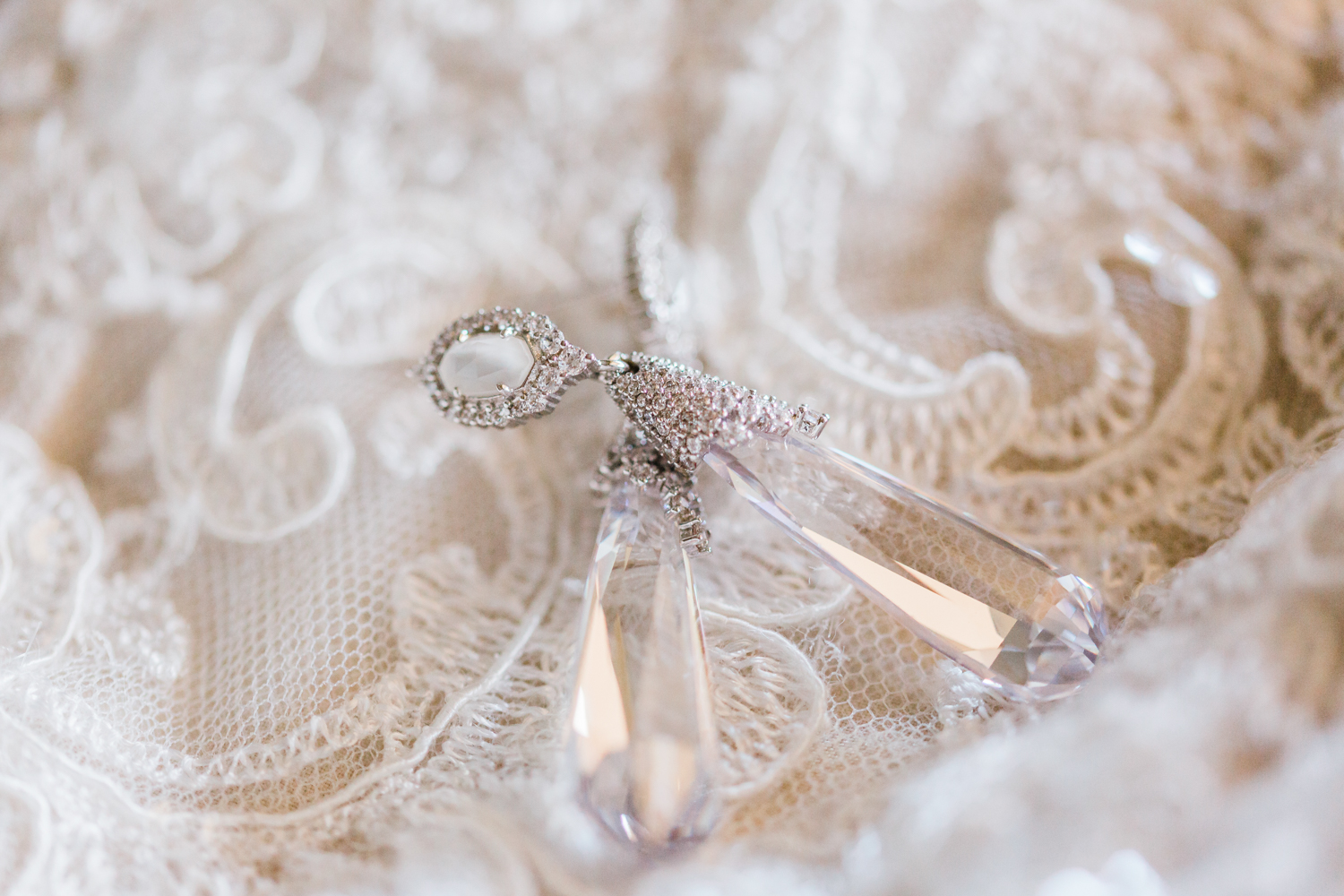 Brides wedding earrings - top rated cinematographer in Frederick MD