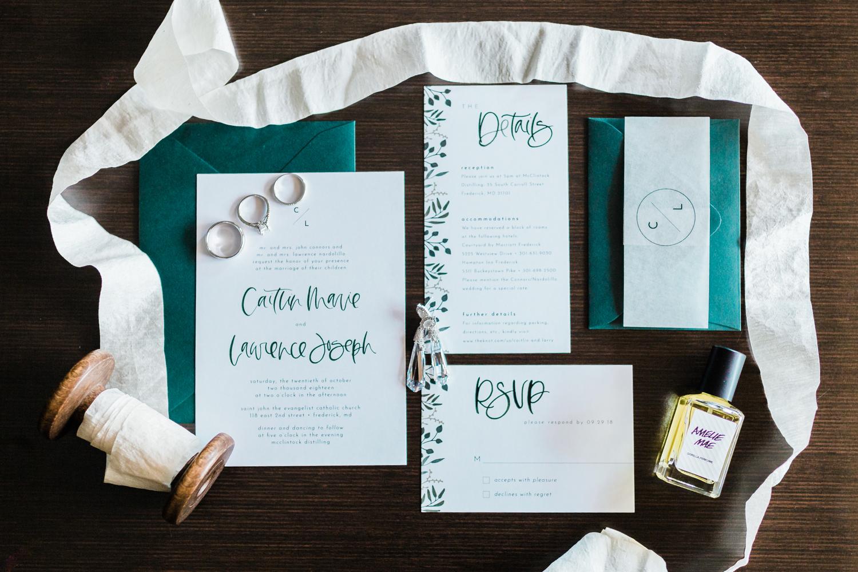 Wedding invitation details - best photographer in DMV area