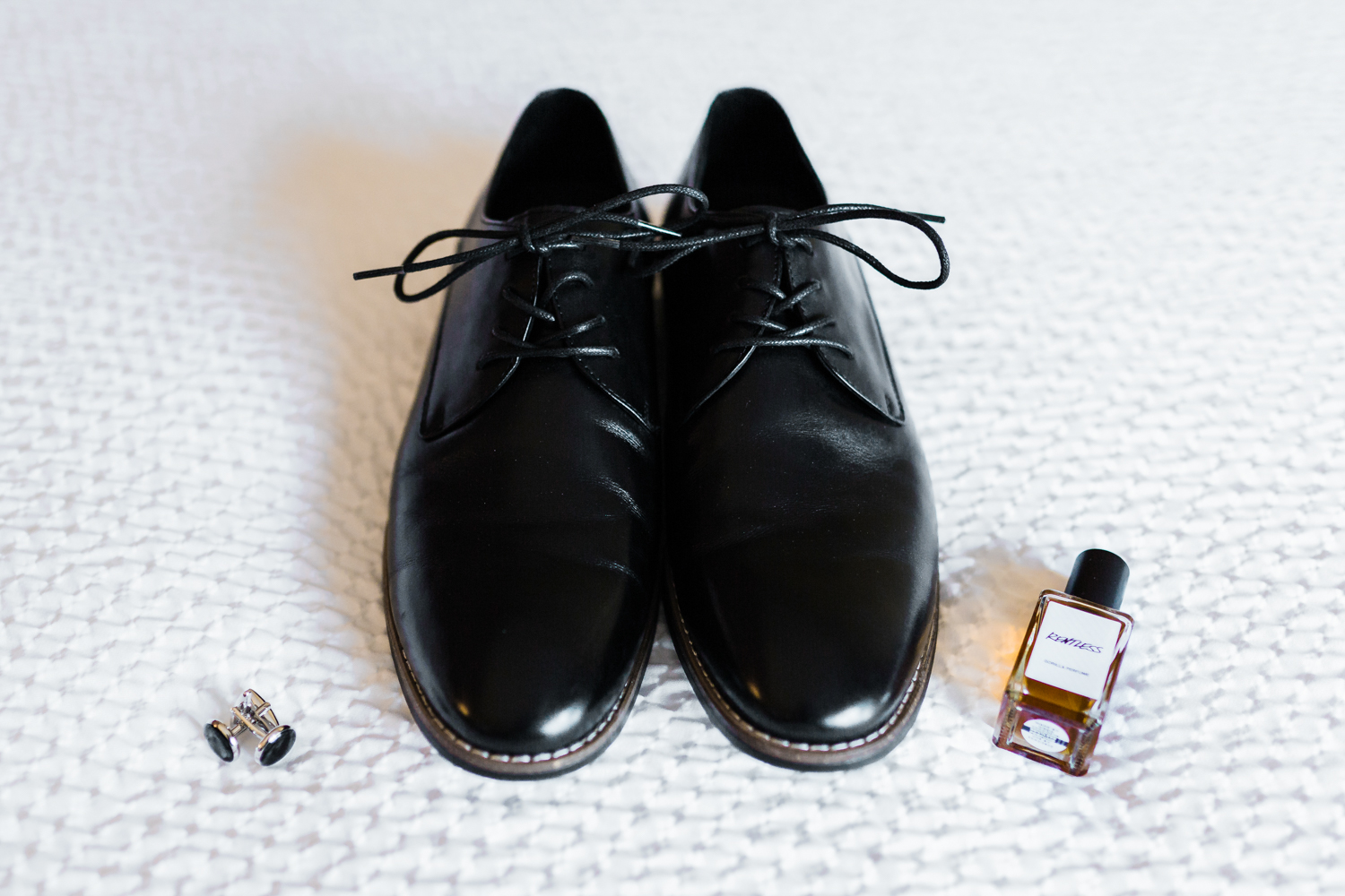 Grooms shoes with cuff links and cologne - highly recommended husband and wife photography in MD