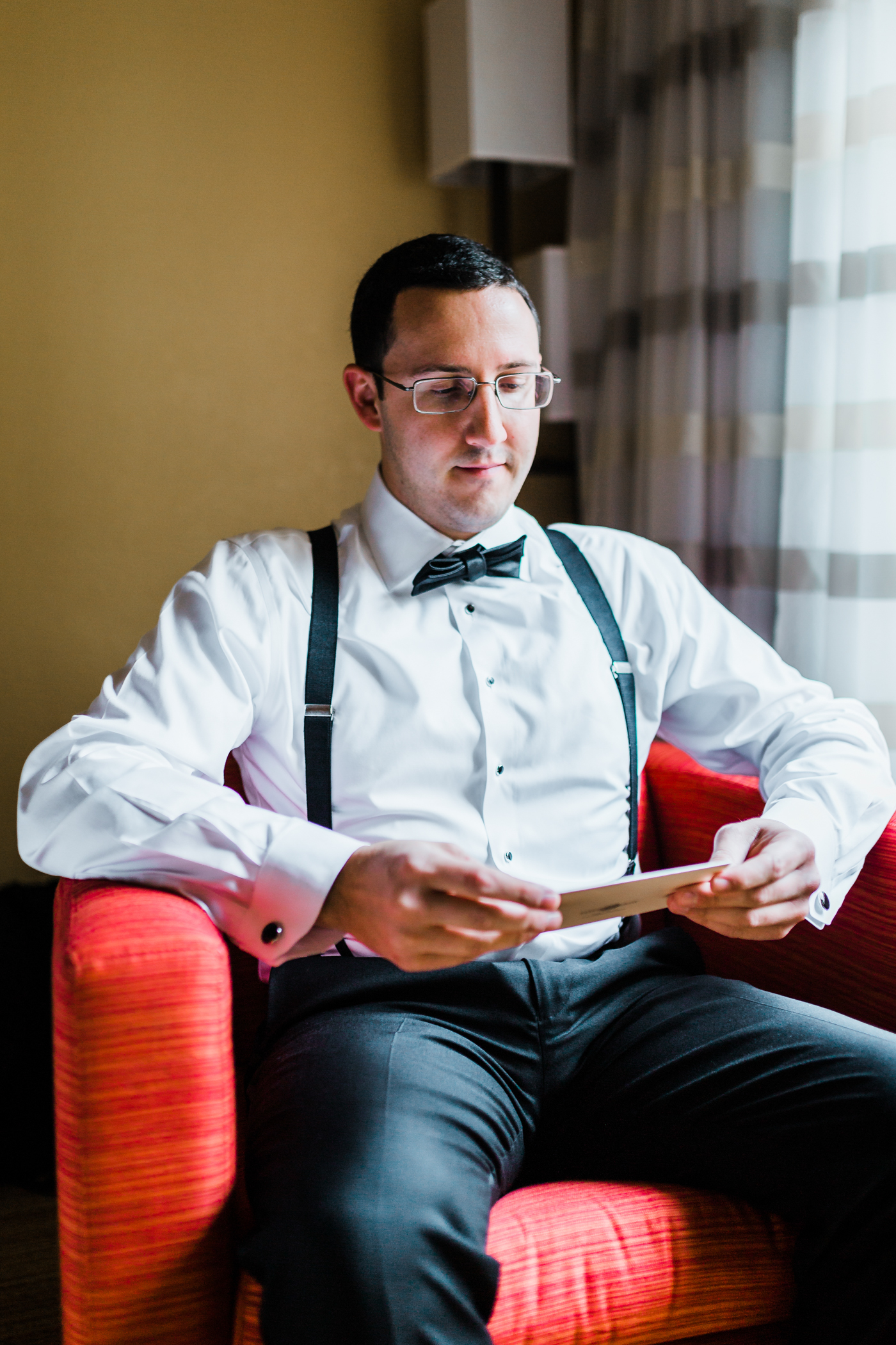 groom reading his letter to his bride - hotels in Frederick MD - maryland wedding photo and video