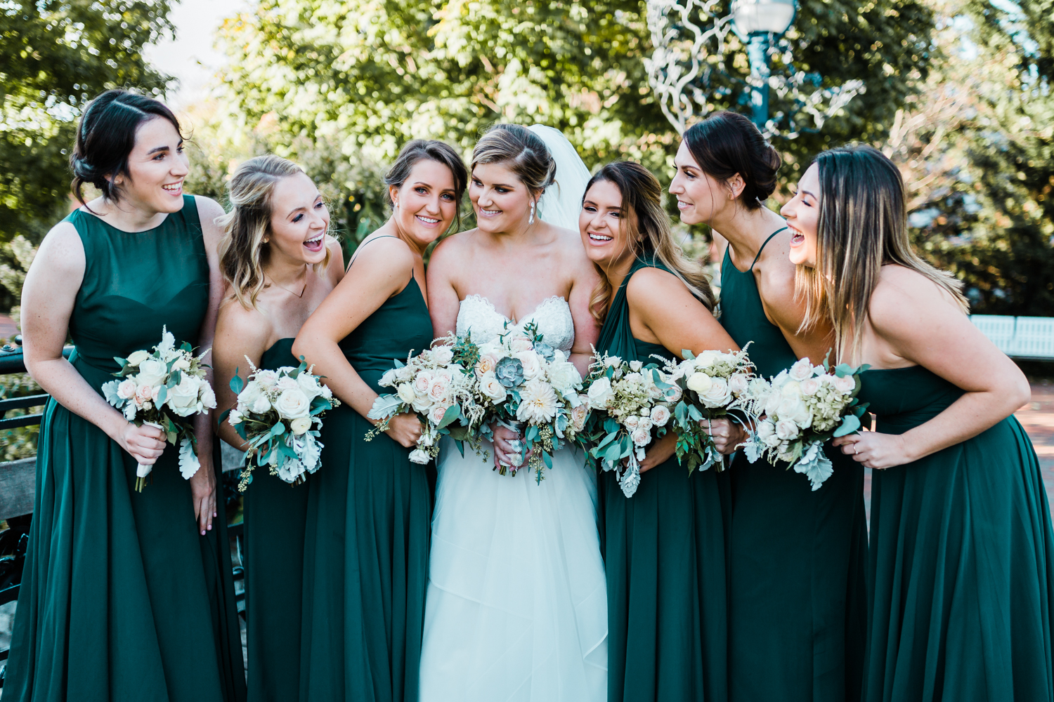 bride and her bridesmaids - Frederick MD wedding photographer and videographer